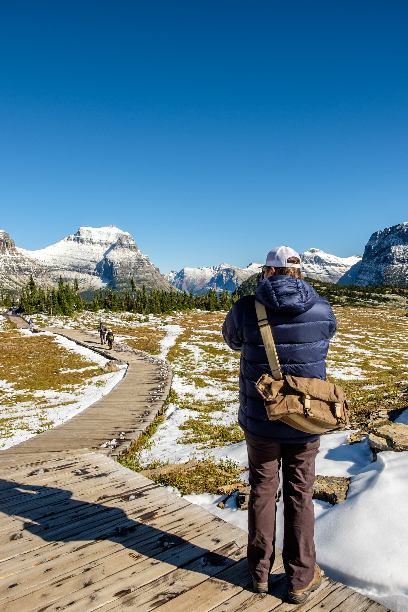 Jonathan captures the sub-alpine wilderness and the snowy autumn landscape.