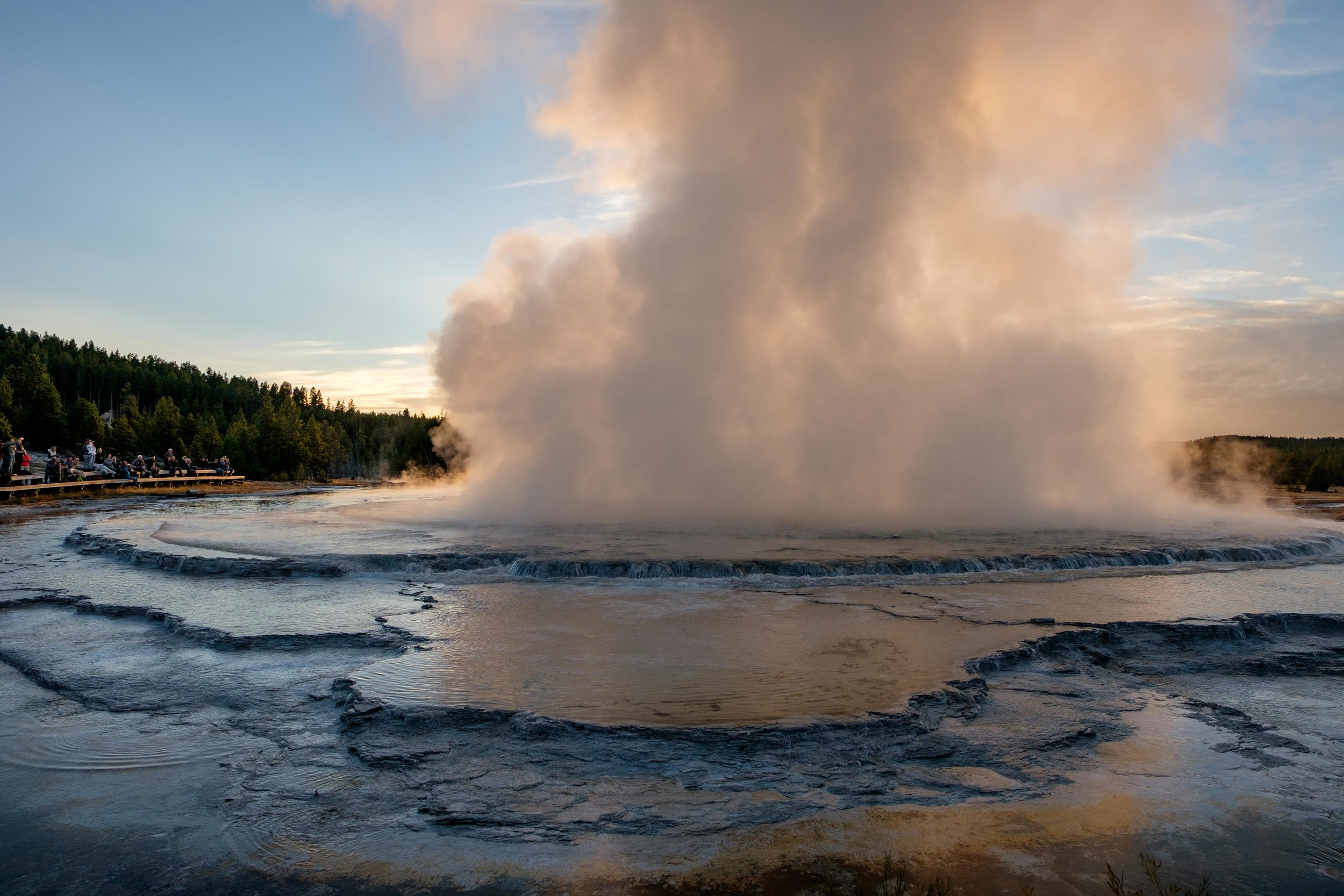 Located in the Firehole Lake area of Lower Geyser Basin, the Great Fountain Geyser is a predictable (and beautiful!) geyser.