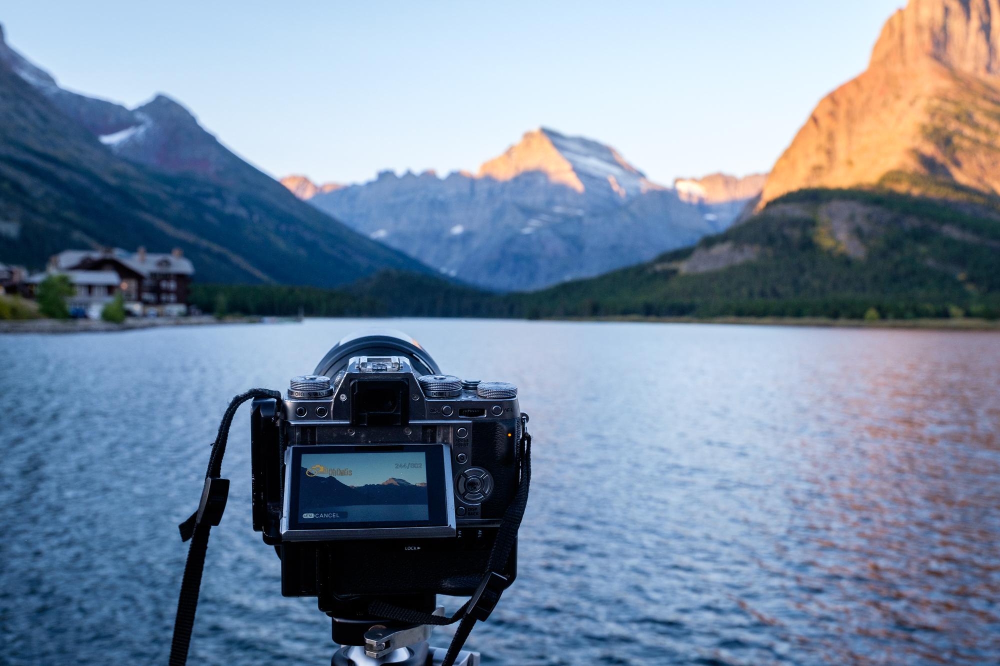 Capturing timelapse in Glacier National Park in Montana.
