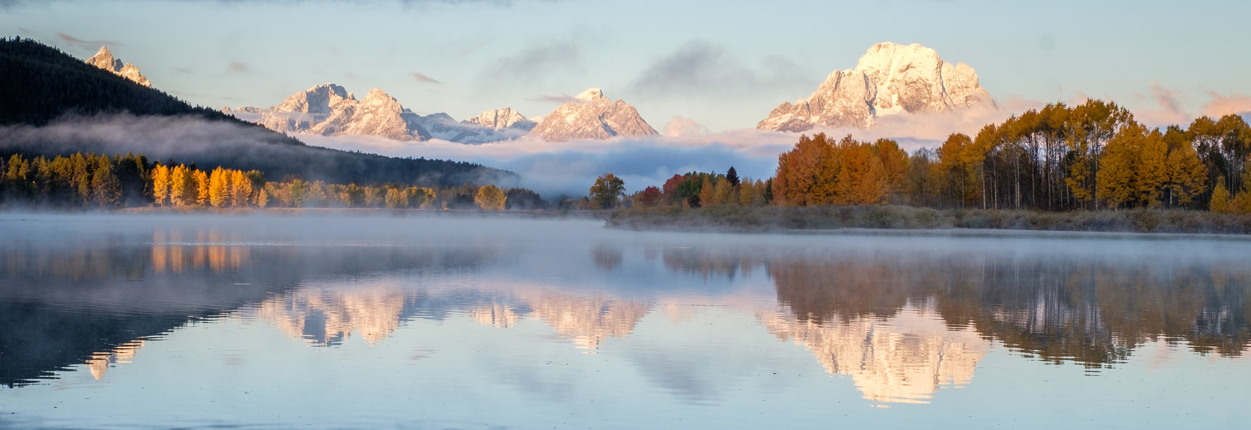 Oxbow Bend during autumn.