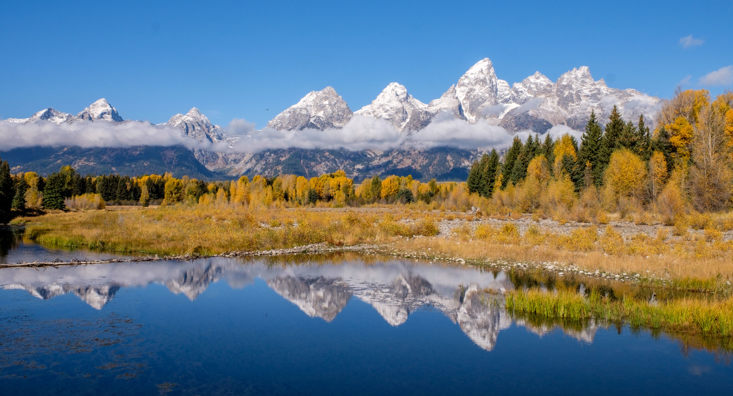 The colors of fall explode at Schwabachers Landing.