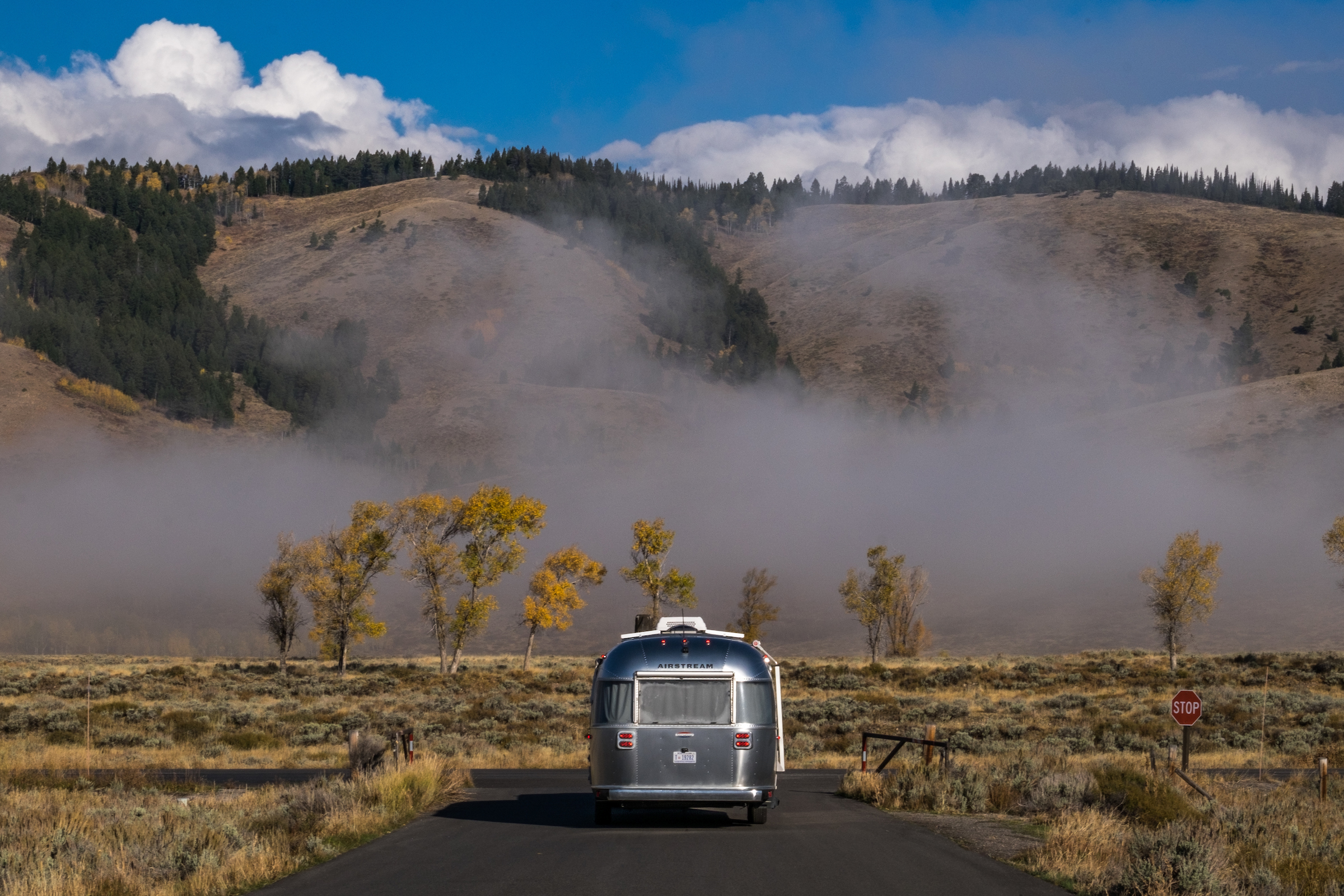 Wally the Airstream en route to the Gros Ventre campground.