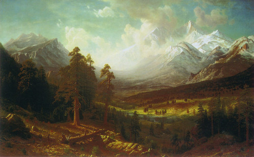 Estes Park by Albert Bierstadt, 1877. At the Denver Art Museum.
