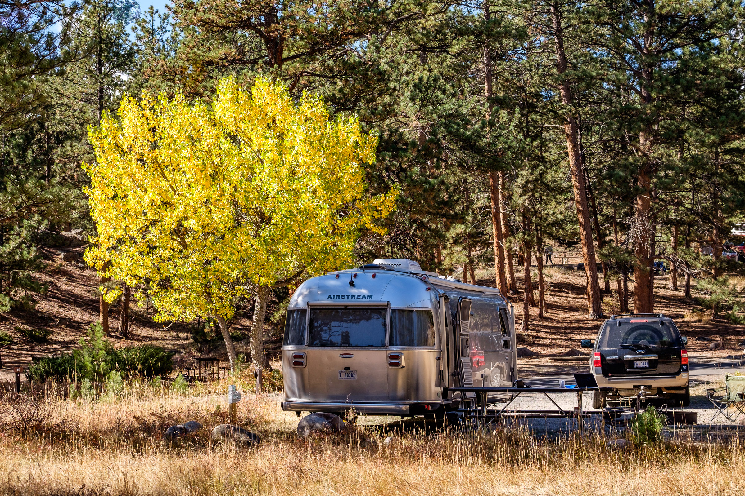 Lots of space for Wally the Airstream at the Moraine Park Campground.