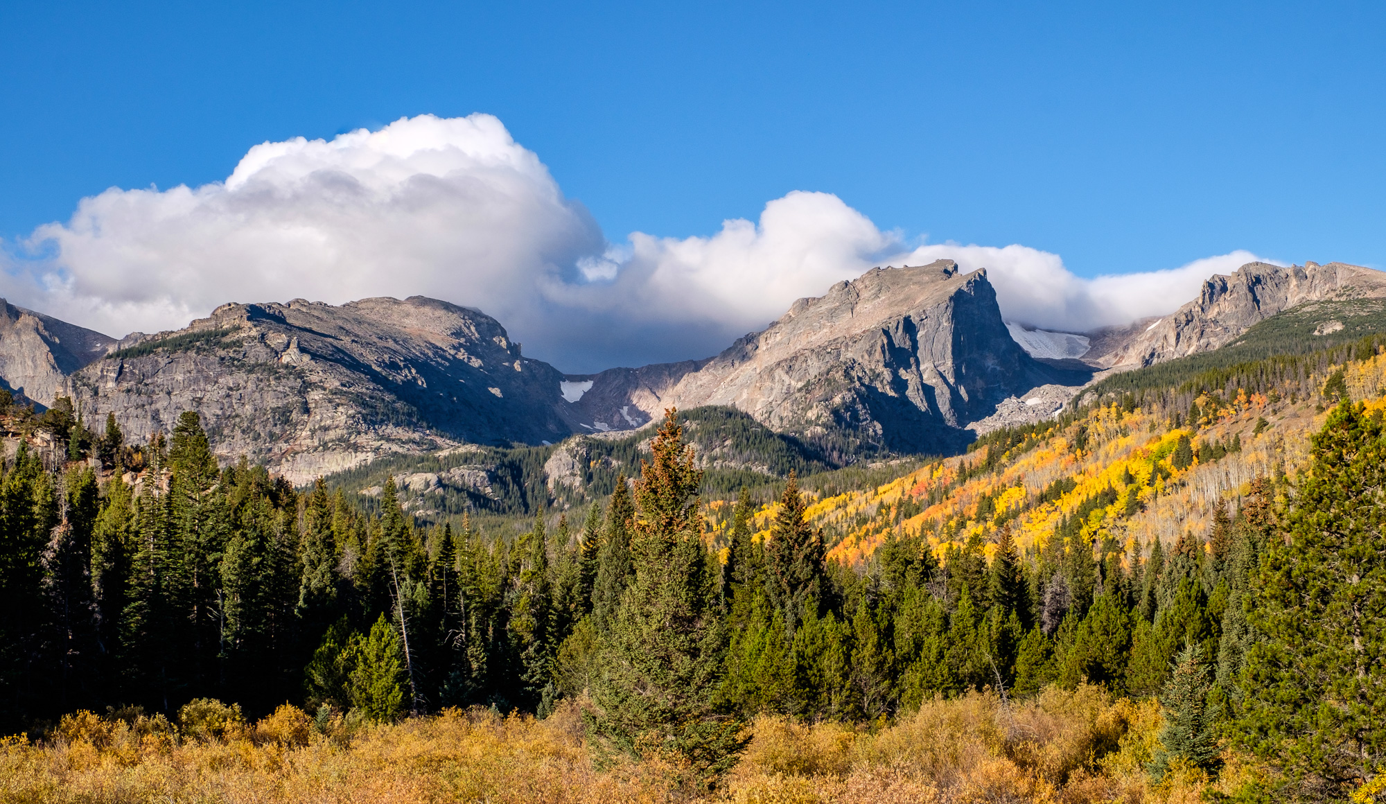 Storm Pass Trailhead, along Bear Lake road, is a great spot to see fall foliage down the valley.