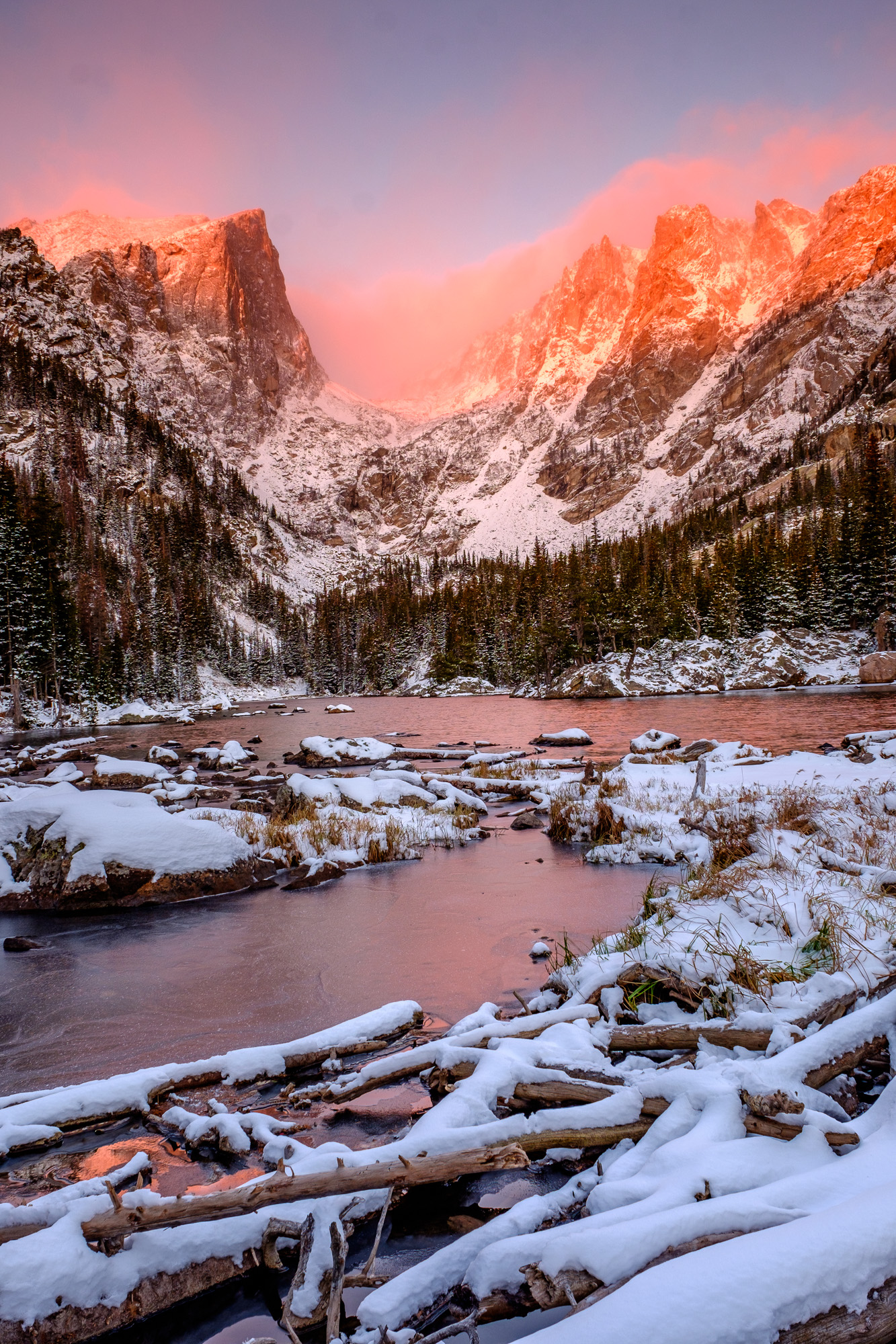 One of the most magical mornings of our entire year happened at appropriately named Dream Lake.