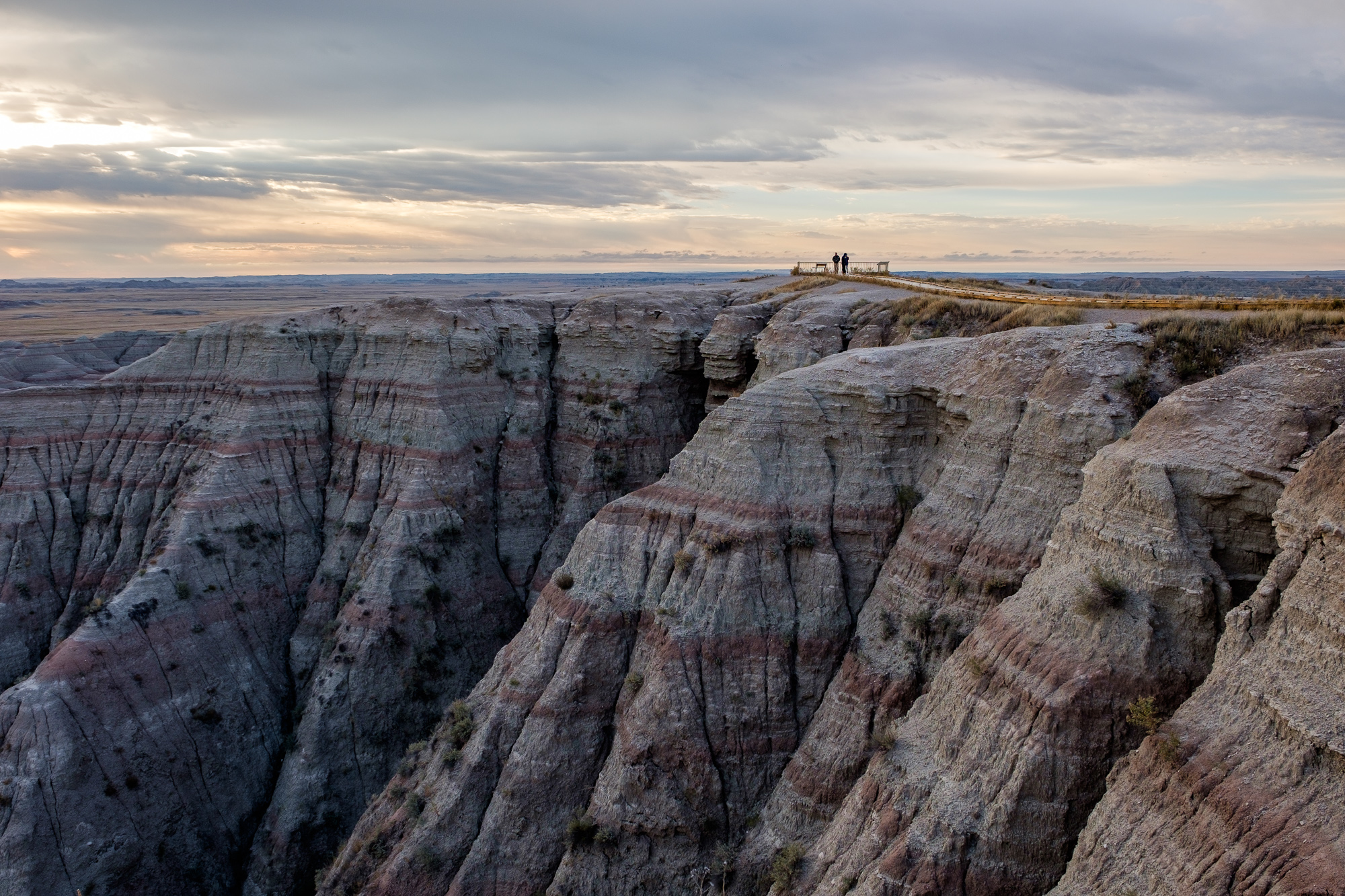 The viewpoint at Big Badlands Overlook.