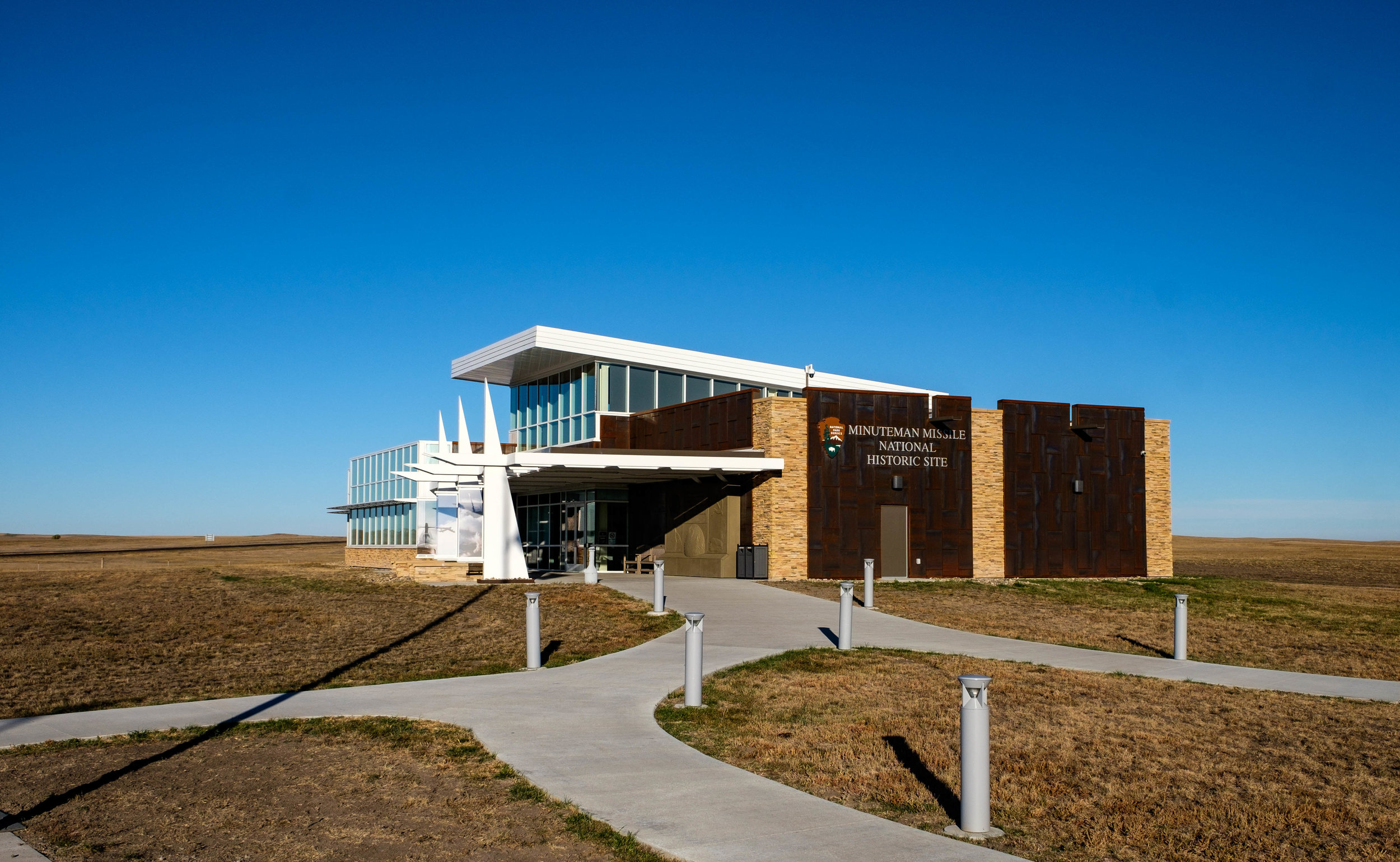 The Minuteman Missile National Historic Site Visitor Center. Head here to make reservations to see the Launch Control Facility and to learn more about the missile program from park rangers.