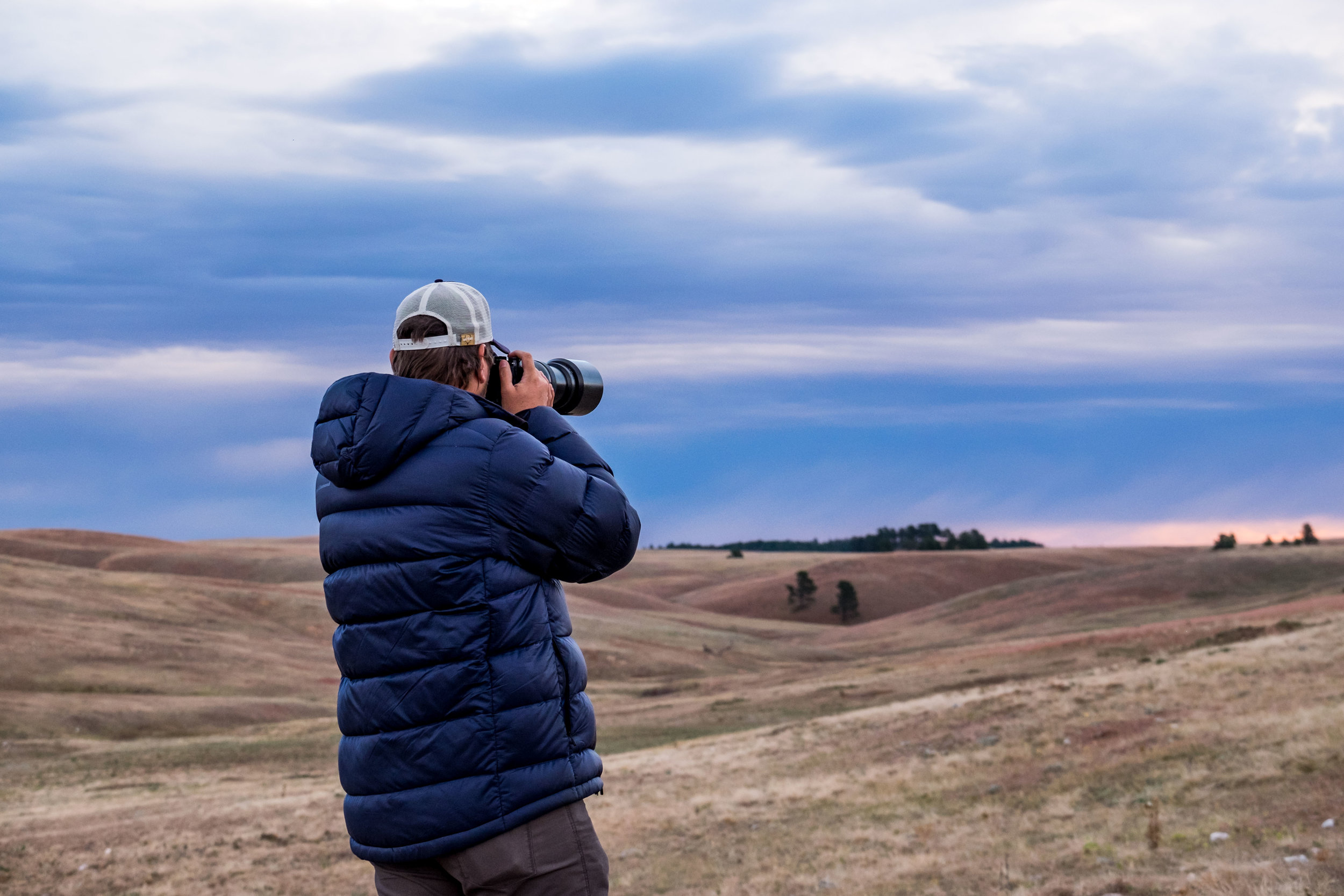 Jonathan photographing Wind Cave National Park in South Dakota.