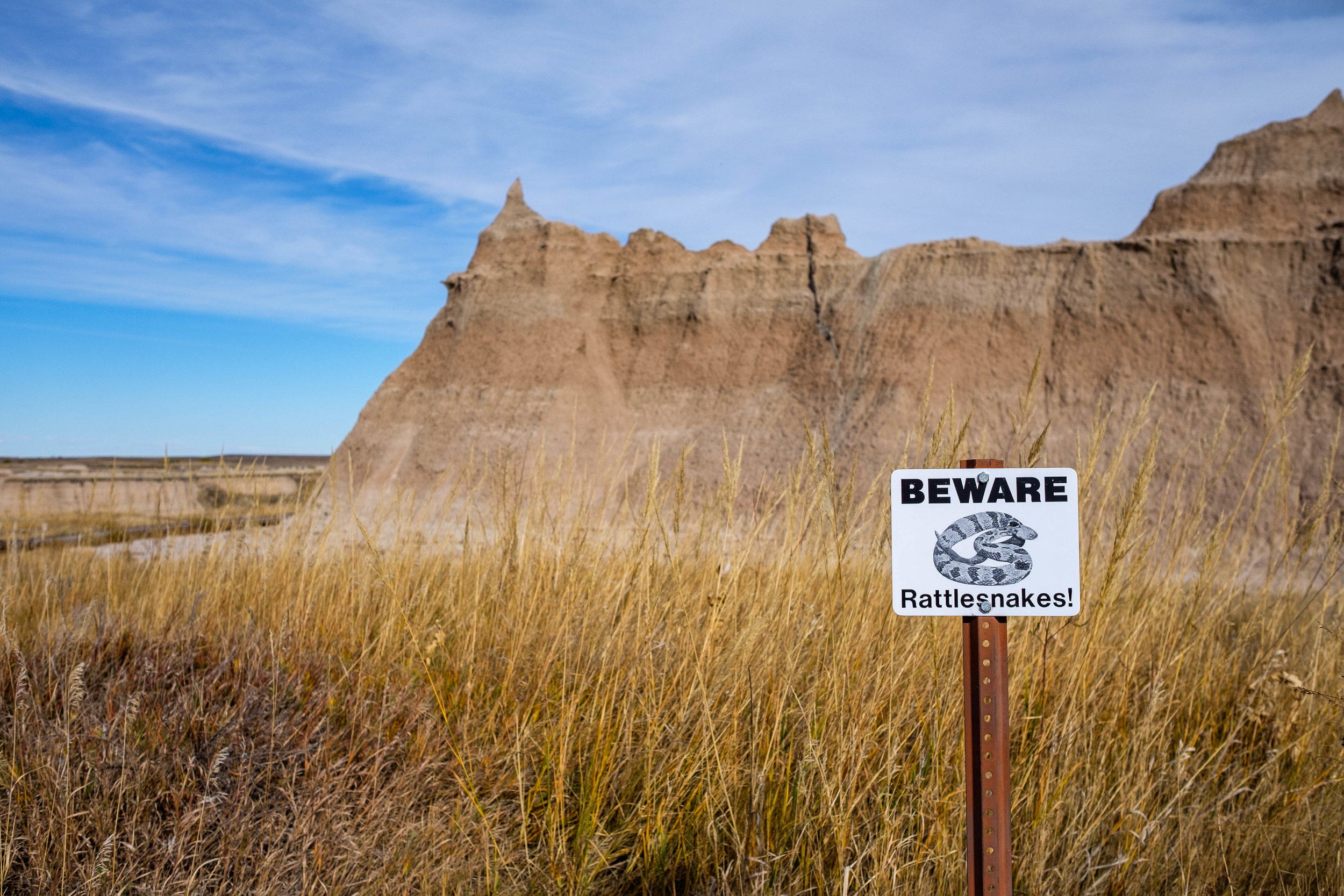 Again with the snakes! Badlands National Park in South Dakota.