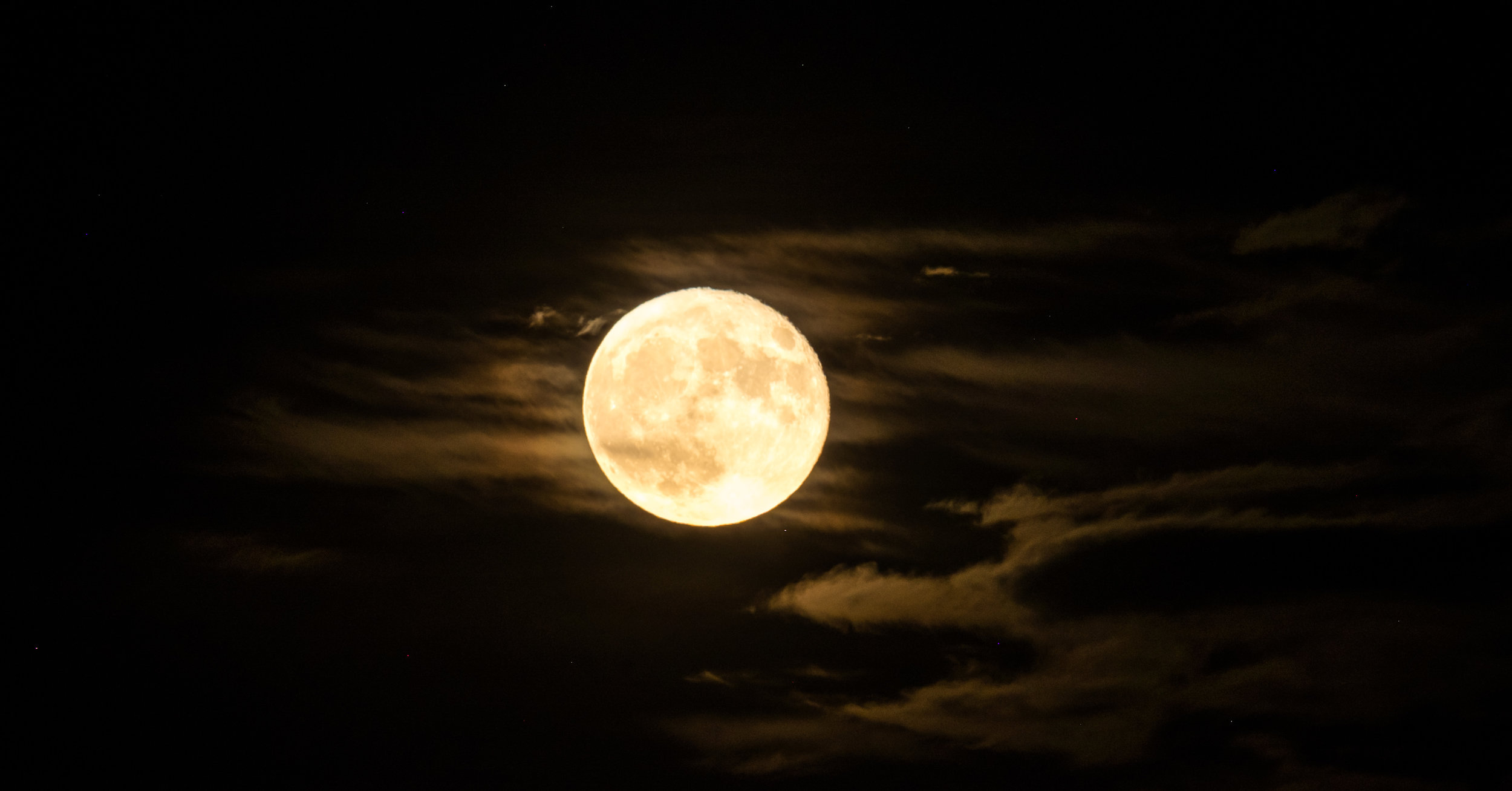 October Supermoon in Wind Cave National Park in South Dakota.