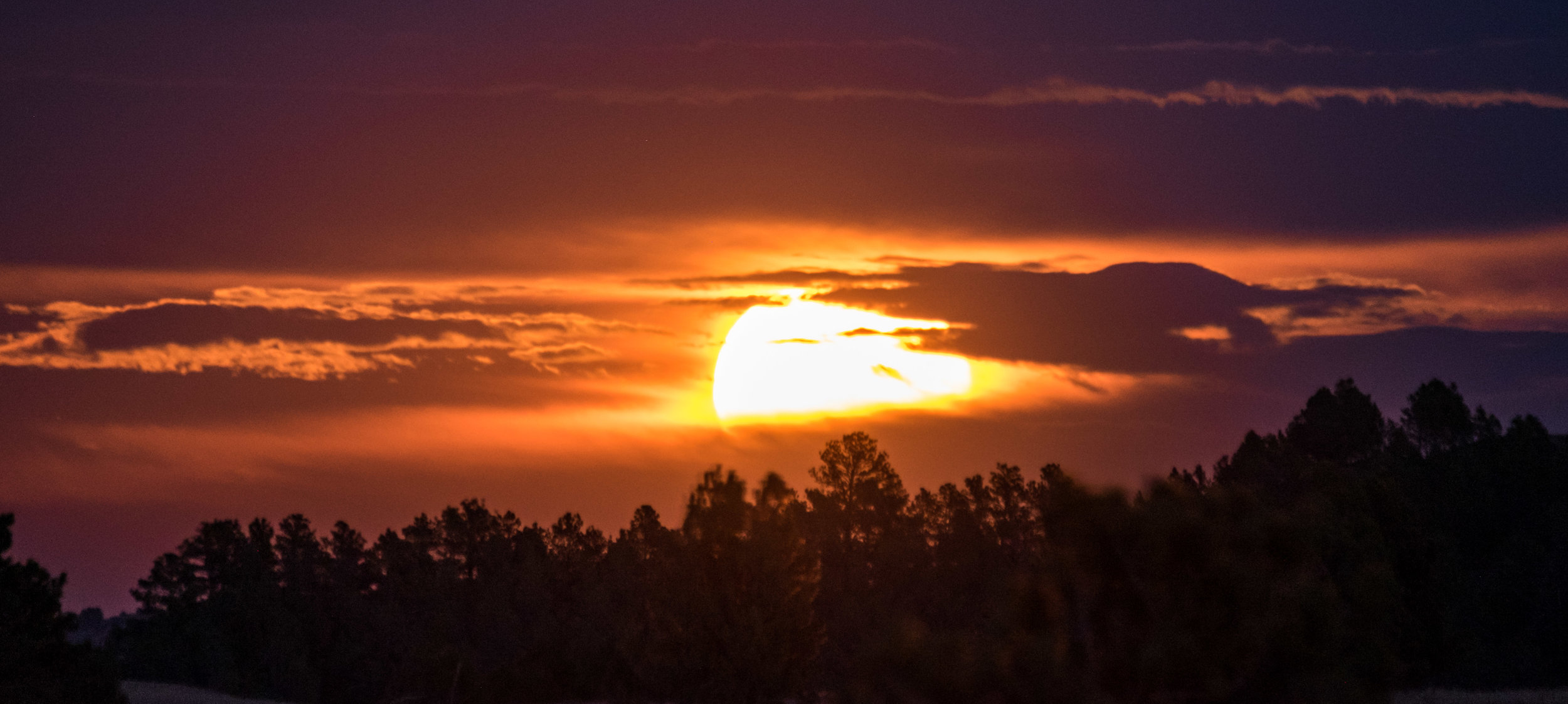 Sunset in Wind Cave National Park in South Dakota.