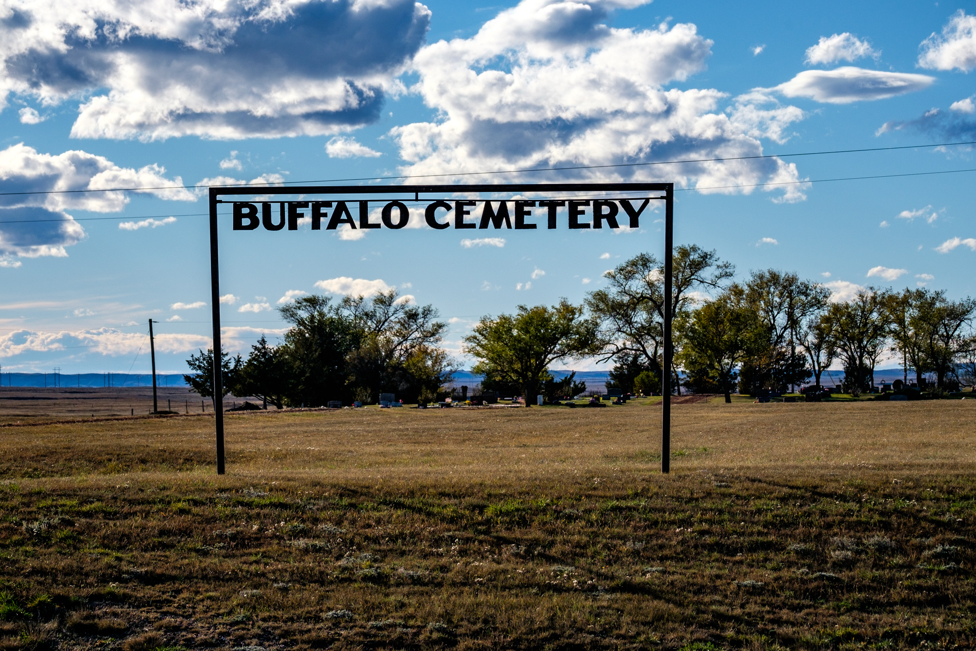 """We passed this """"Buffalo Cemetery"""" on the way to the park."""