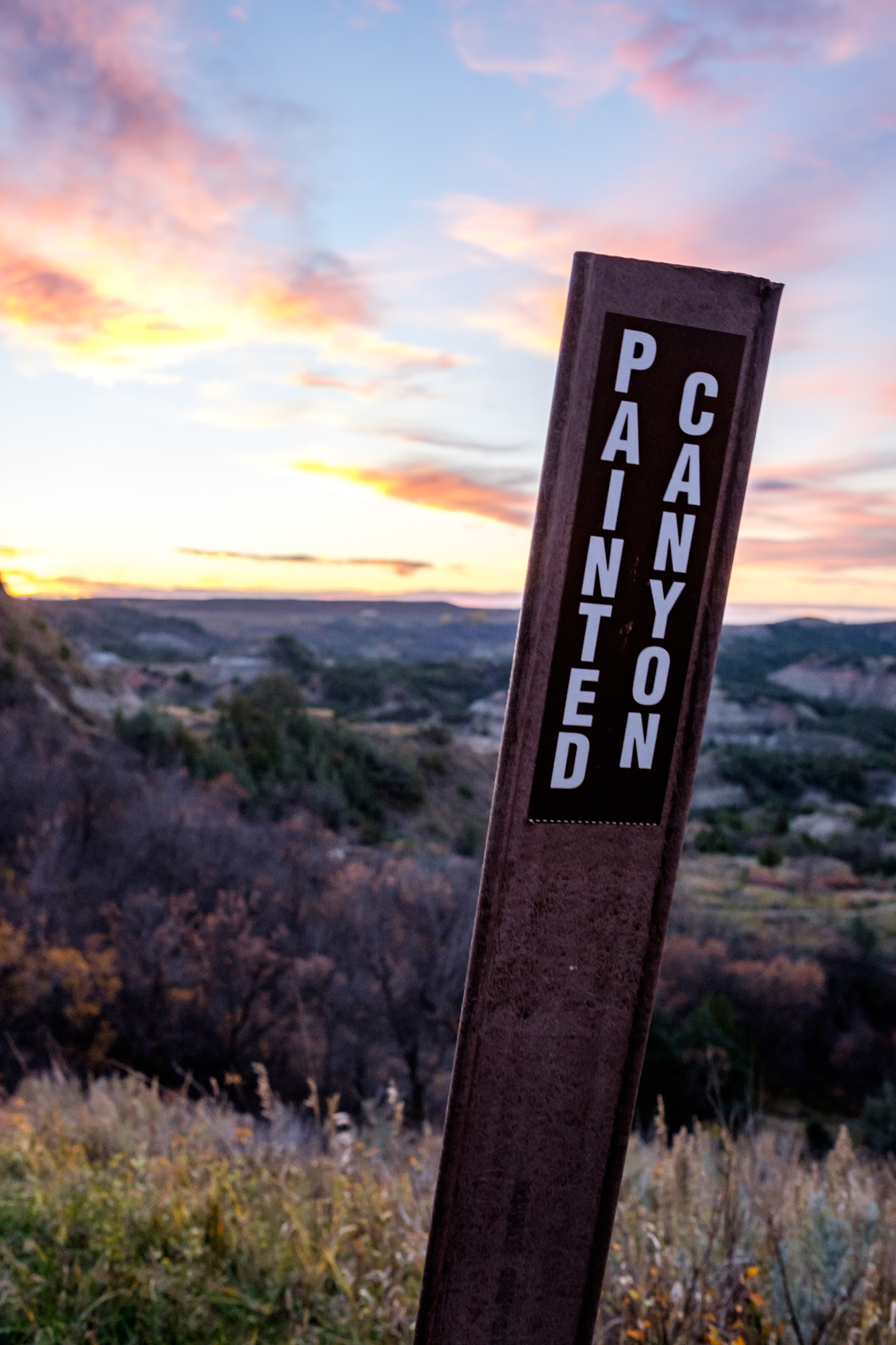 Our first stop was to witness a gorgeous sunset at Painted Canyon.