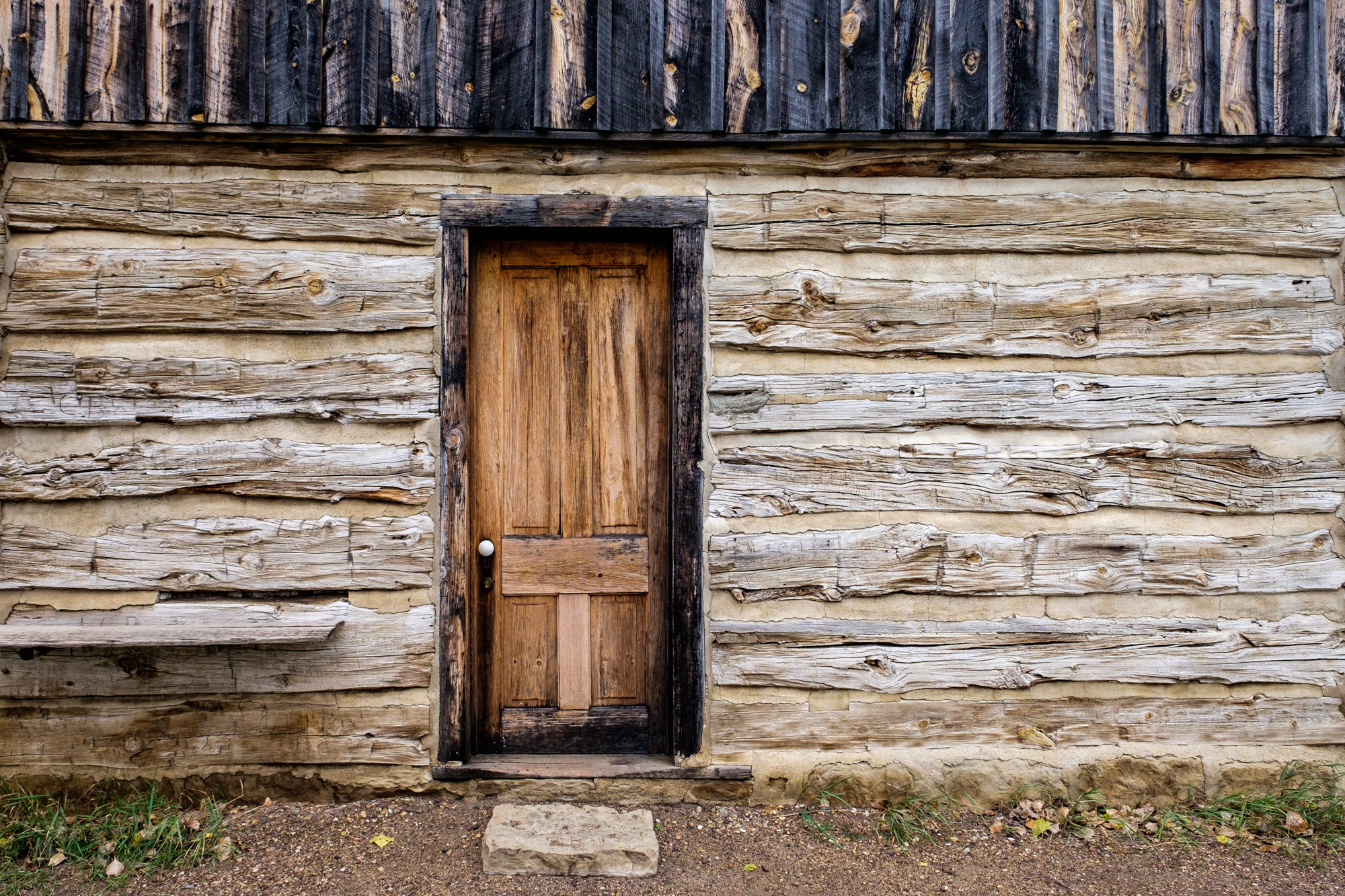 Door to the Maltese Cross Cabin, located in the south unit. Here you can still see many of T.R.'s personal belongings.