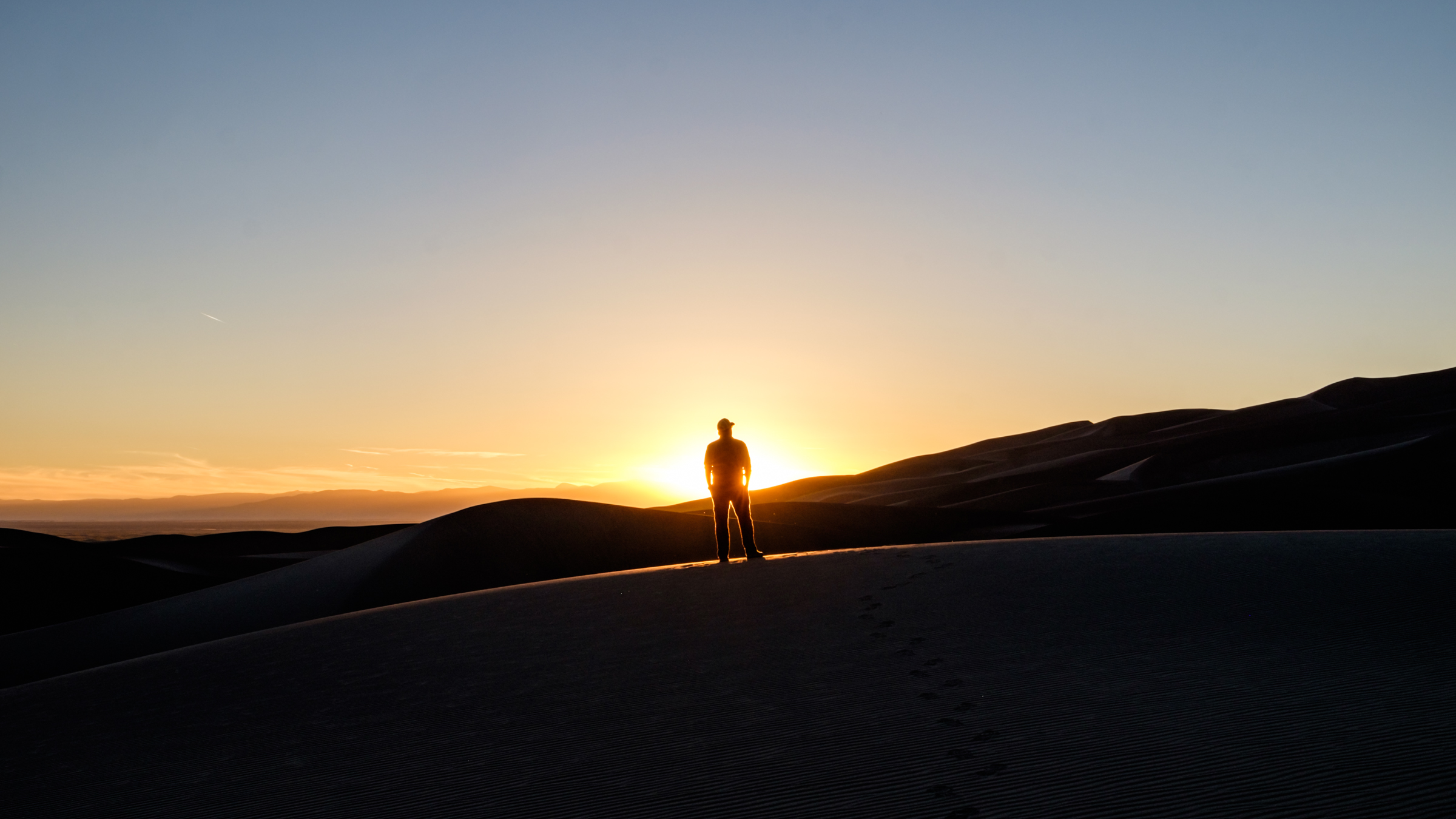 Catching the sunset atop the Great Sand Dunes.