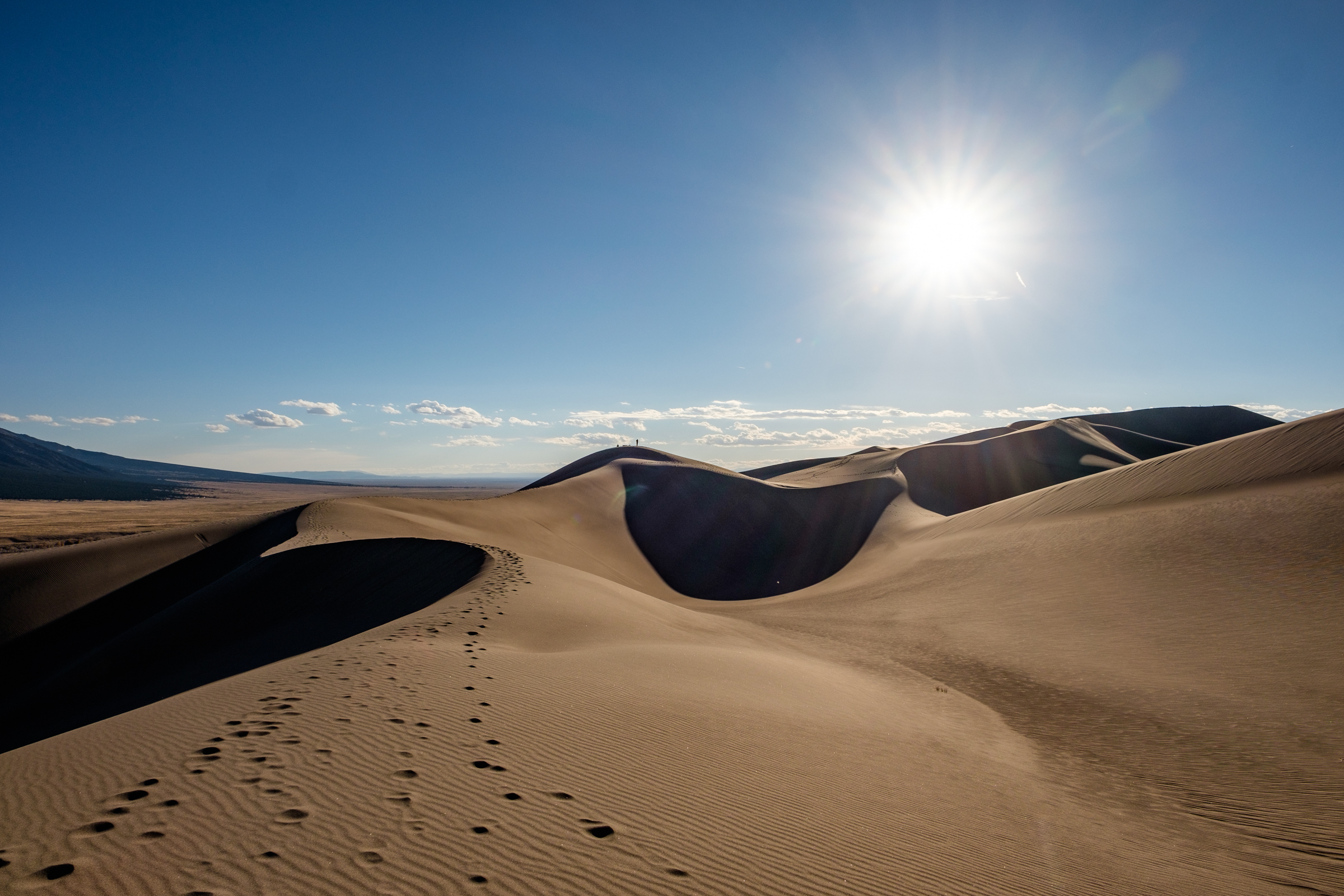 Great Sand Dunes National Park in October 2016, just before sunset.
