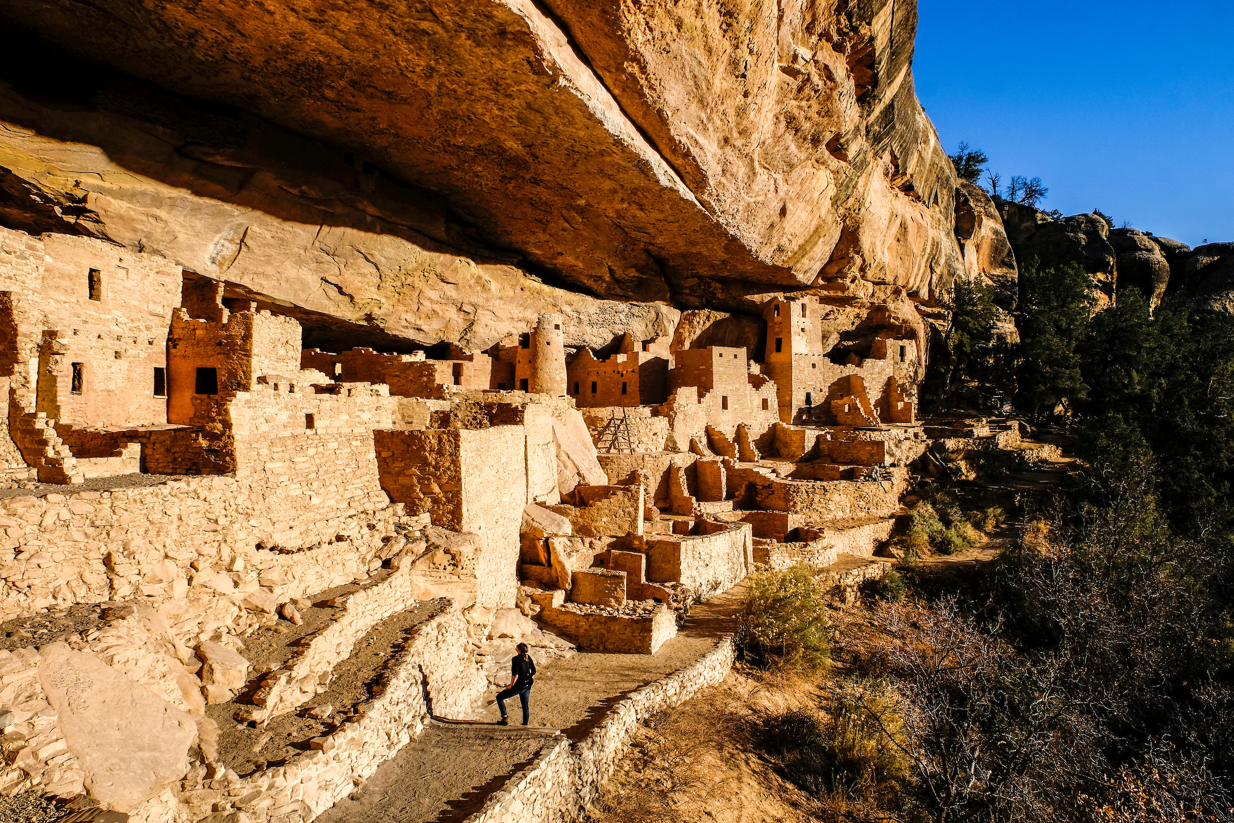 Exploring Cliff Palace on a private guided tour.