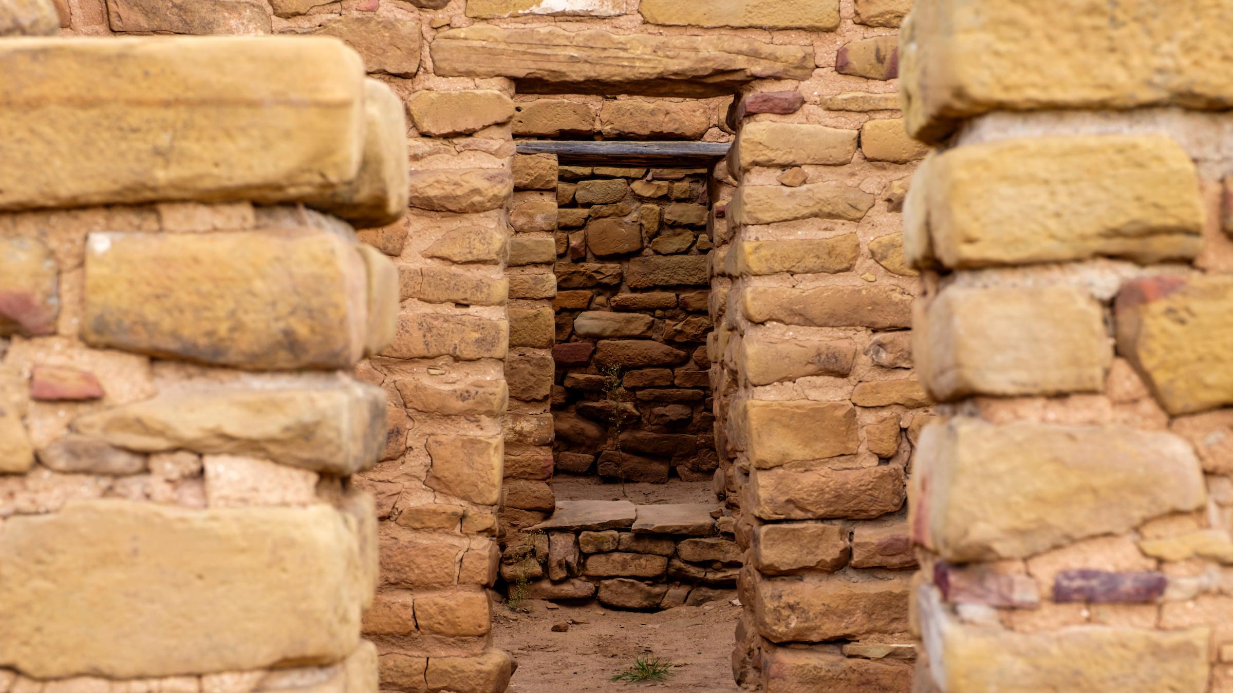 Doorways in dwellings at the Far View Sites in Mesa Verde National Park.