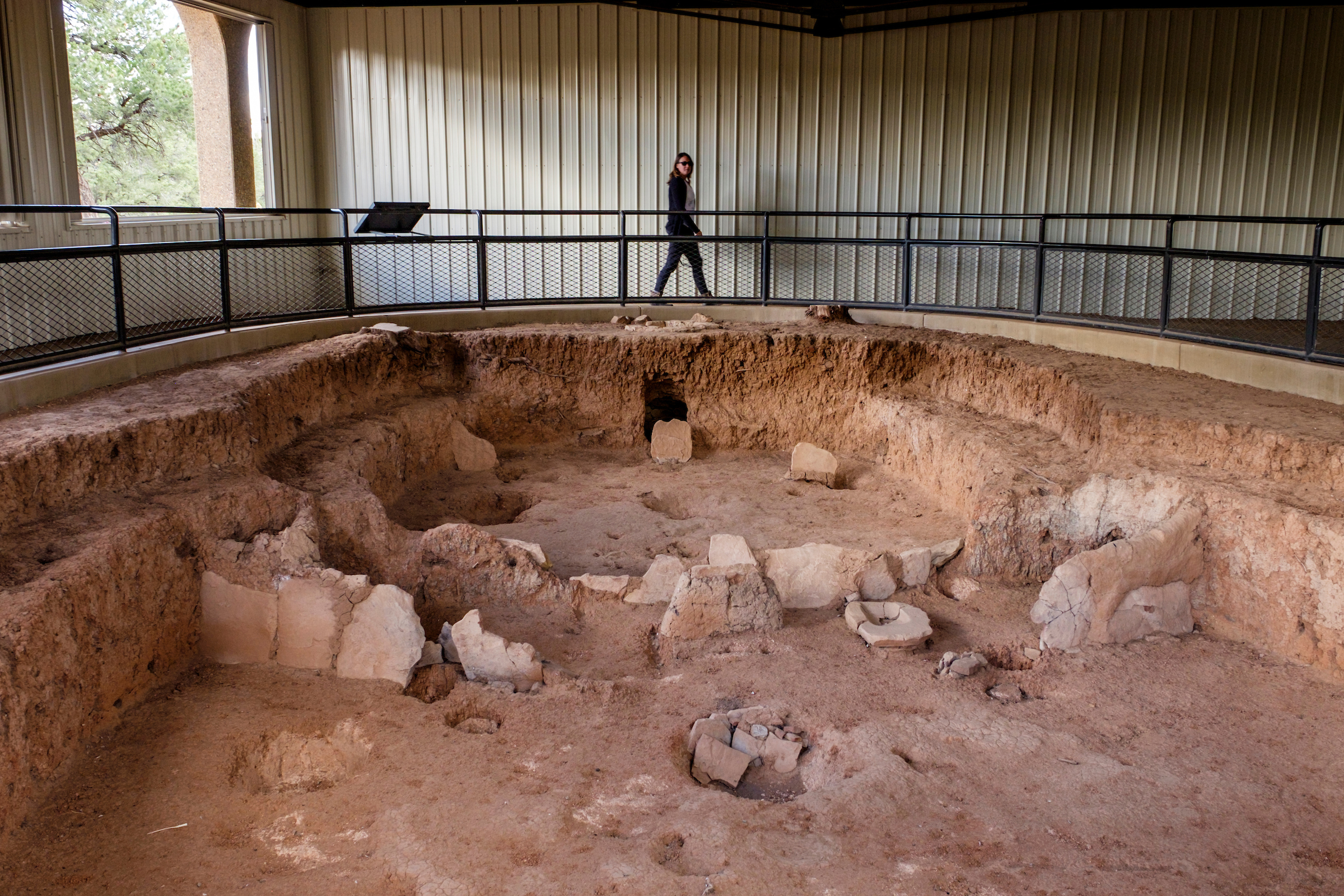 Some of the oldest archeological sites in the park exist at the  Mesa Top Sites .