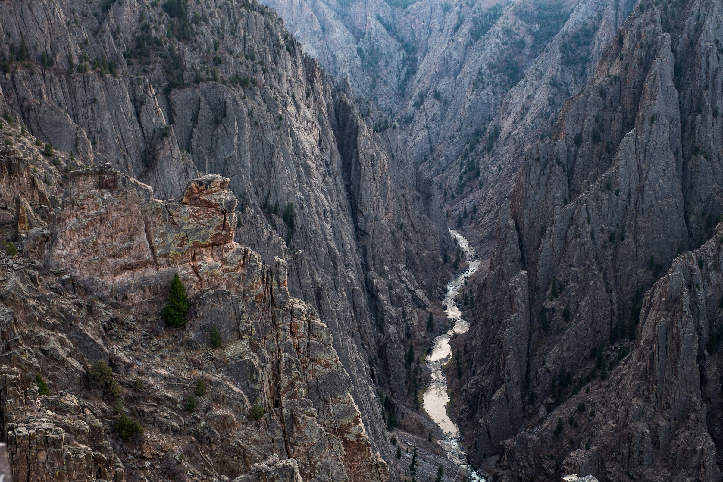"""""""Much rocks, big water,"""" was how native Ute indians in the area referred to Black Canyon of the Gunnison."""