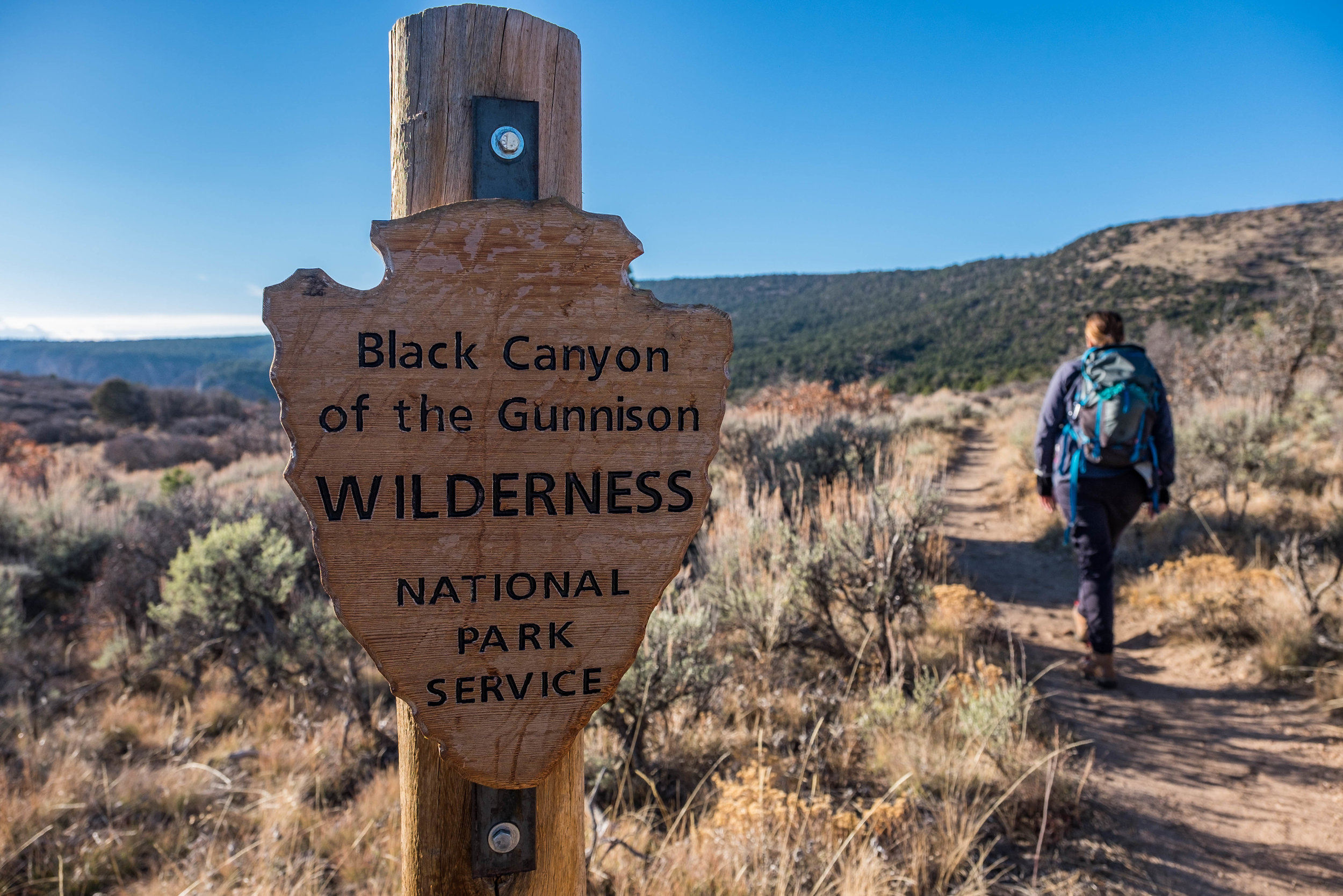 We are officially in the Black Canyon wilderness!