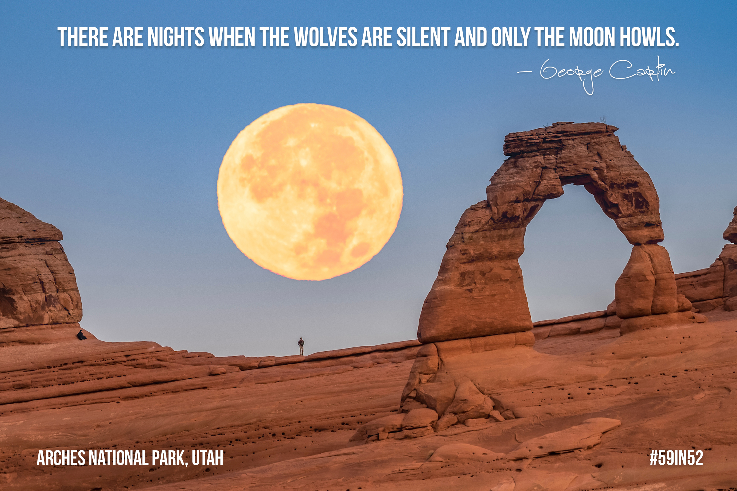 'There are nights when the wolves are silent and only the moon howls.' - George Carlin