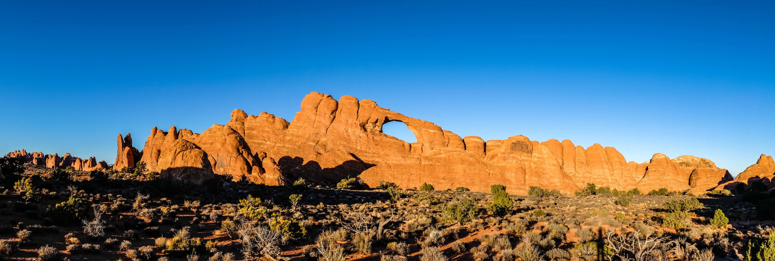 Panorama of Skyline Arch near the end of the park road.