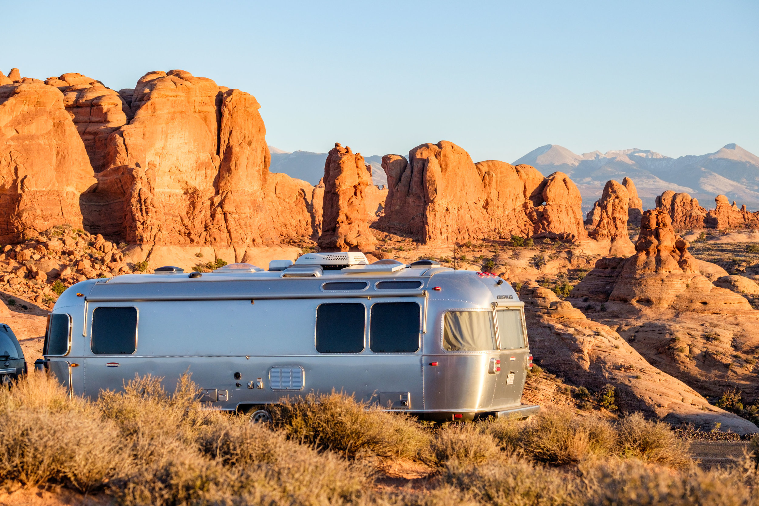 Wally the Airstream had no trouble trekking the scenic park road.