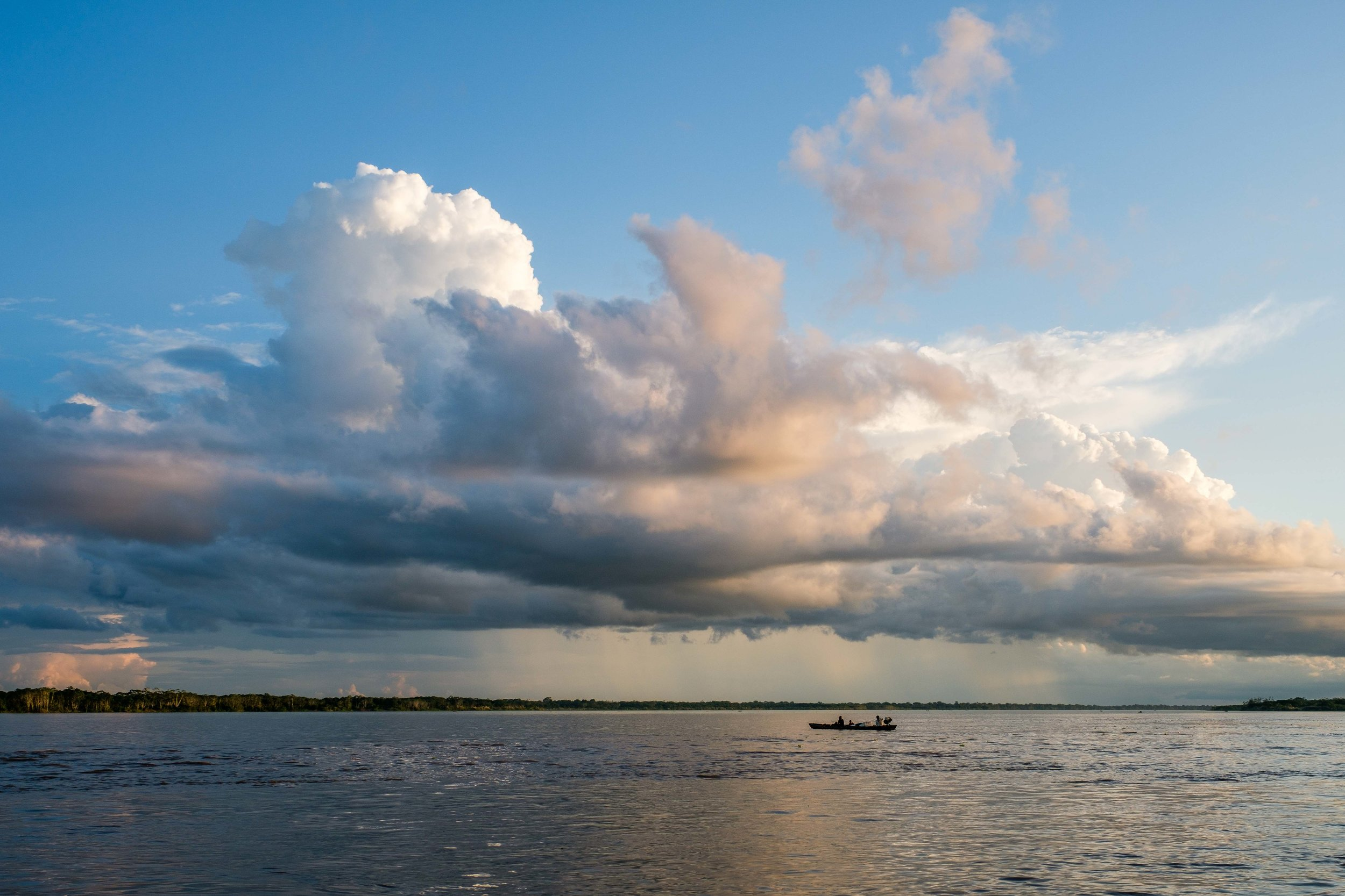 The mighty Amazon River in Peru.