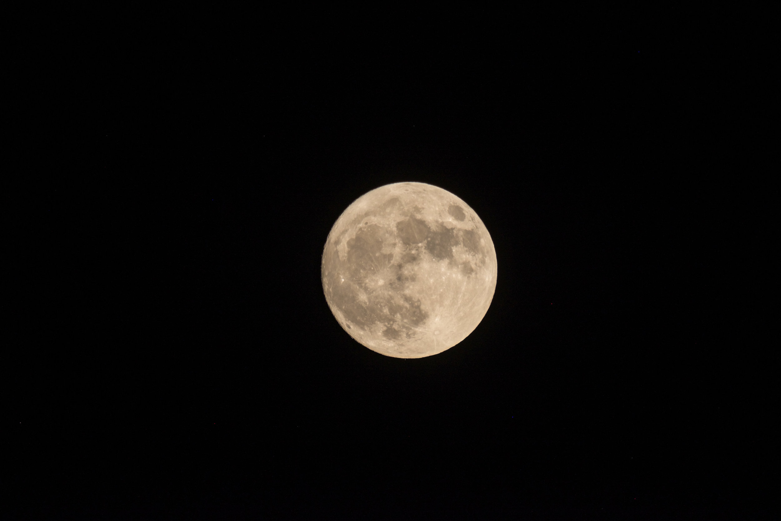 The full moon, which also happened to be a supermoon.