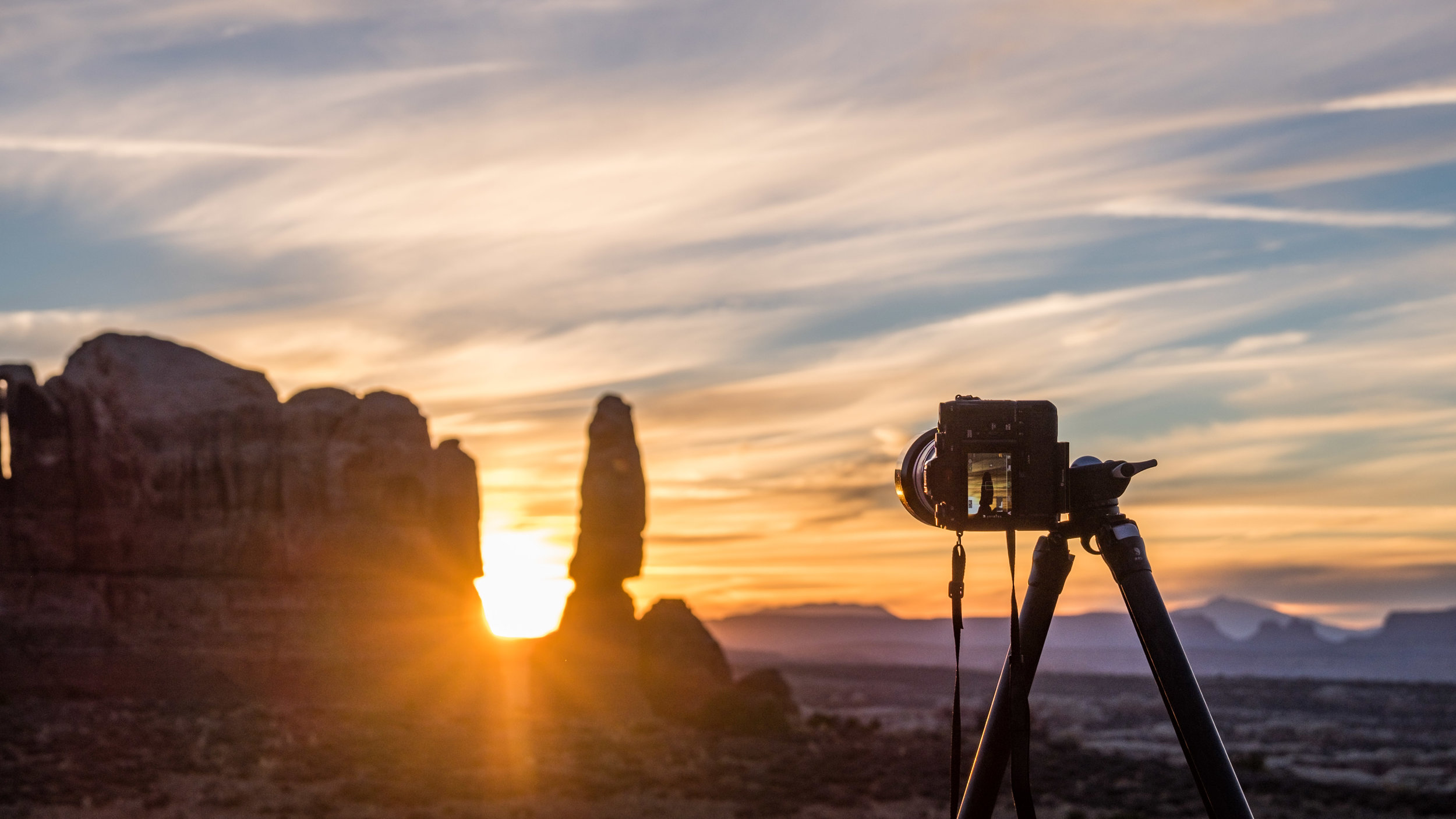 Capturing the sunset with the rock solid Fujifilm X-T1.