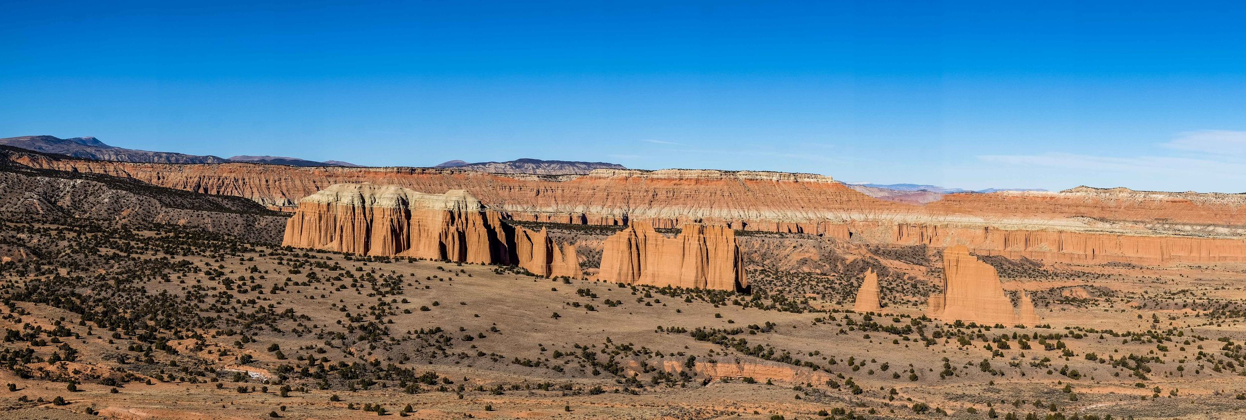 Panorama of the Upper Cathedral Valley.