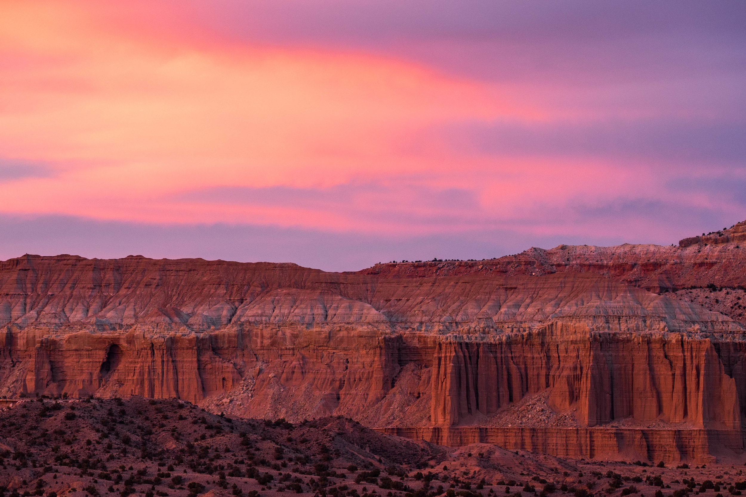 Sunset brought incredible colors to the valley.