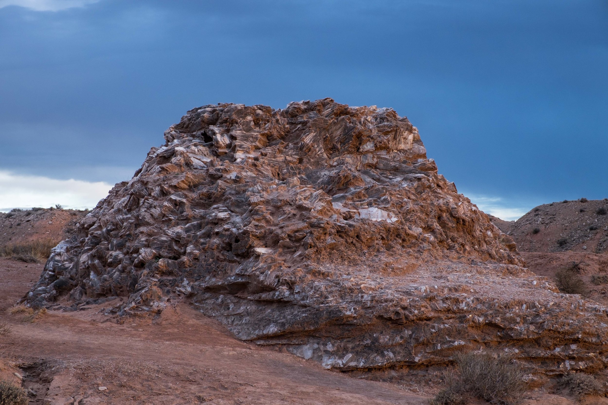 The nearby Glass Mountain really fascinated us.