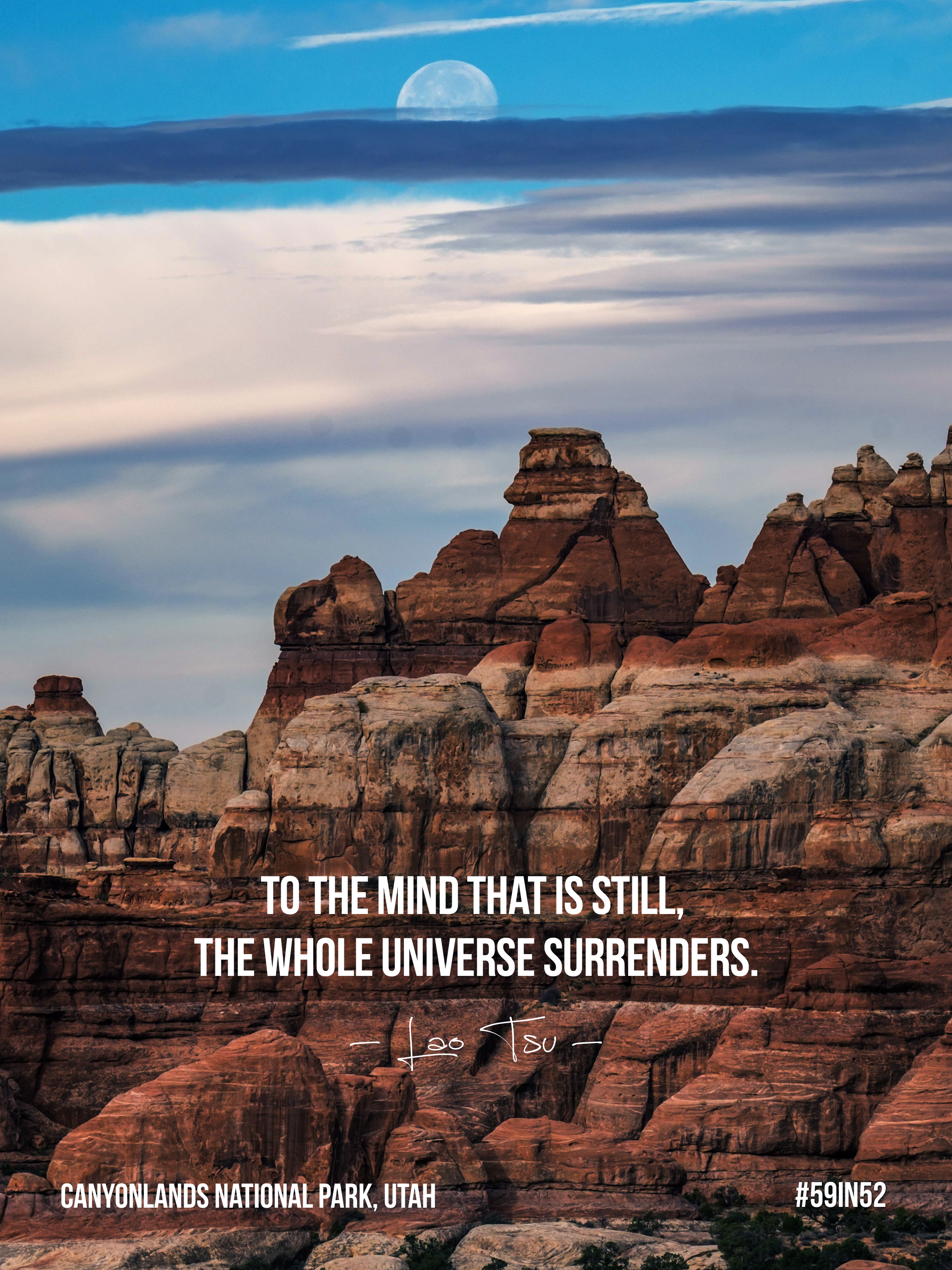 'To the mind that is still, the whole universe surrenders.' - Lao Tzu