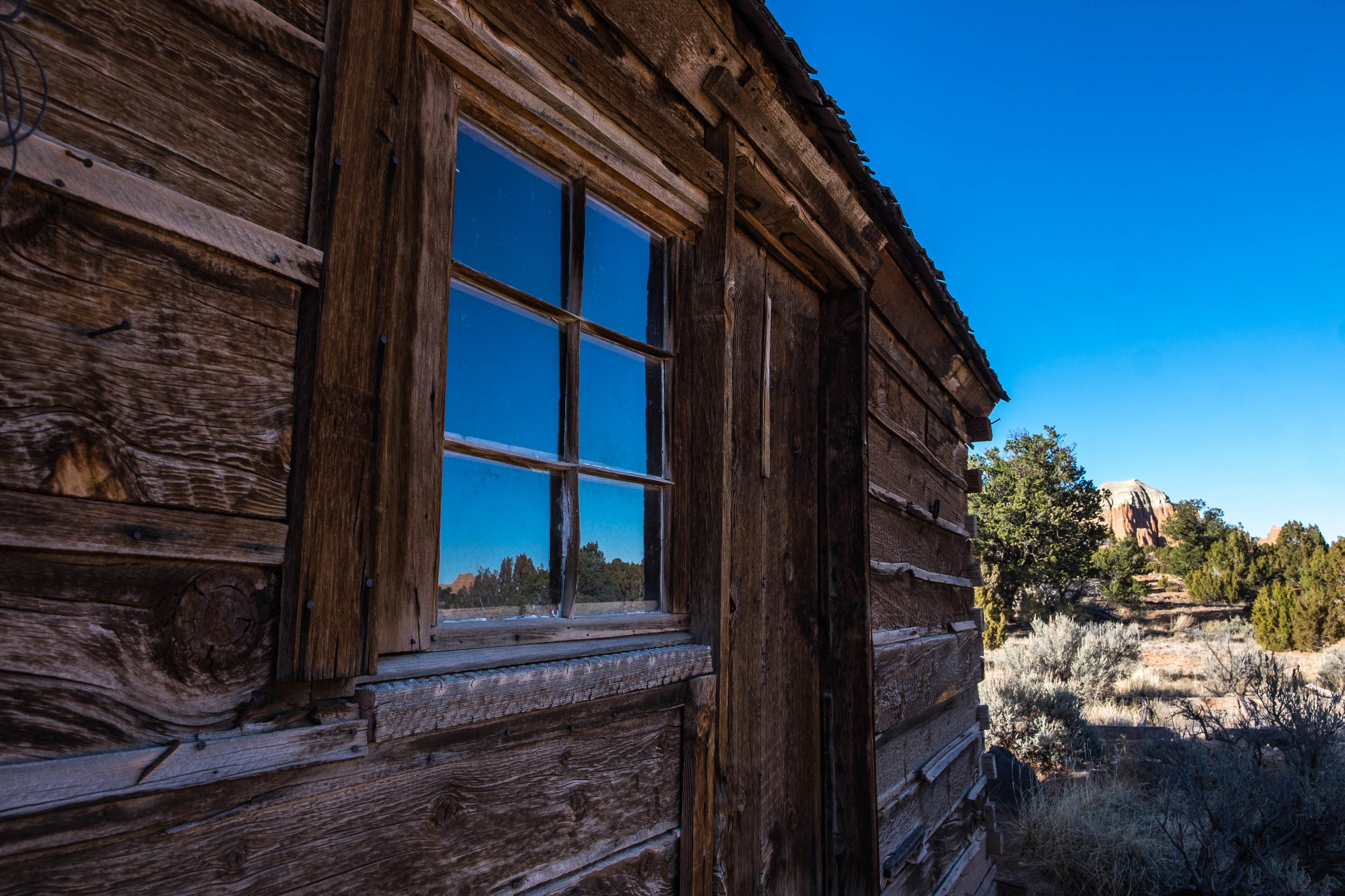 Morrell Cabin in the Cathedral Valley.