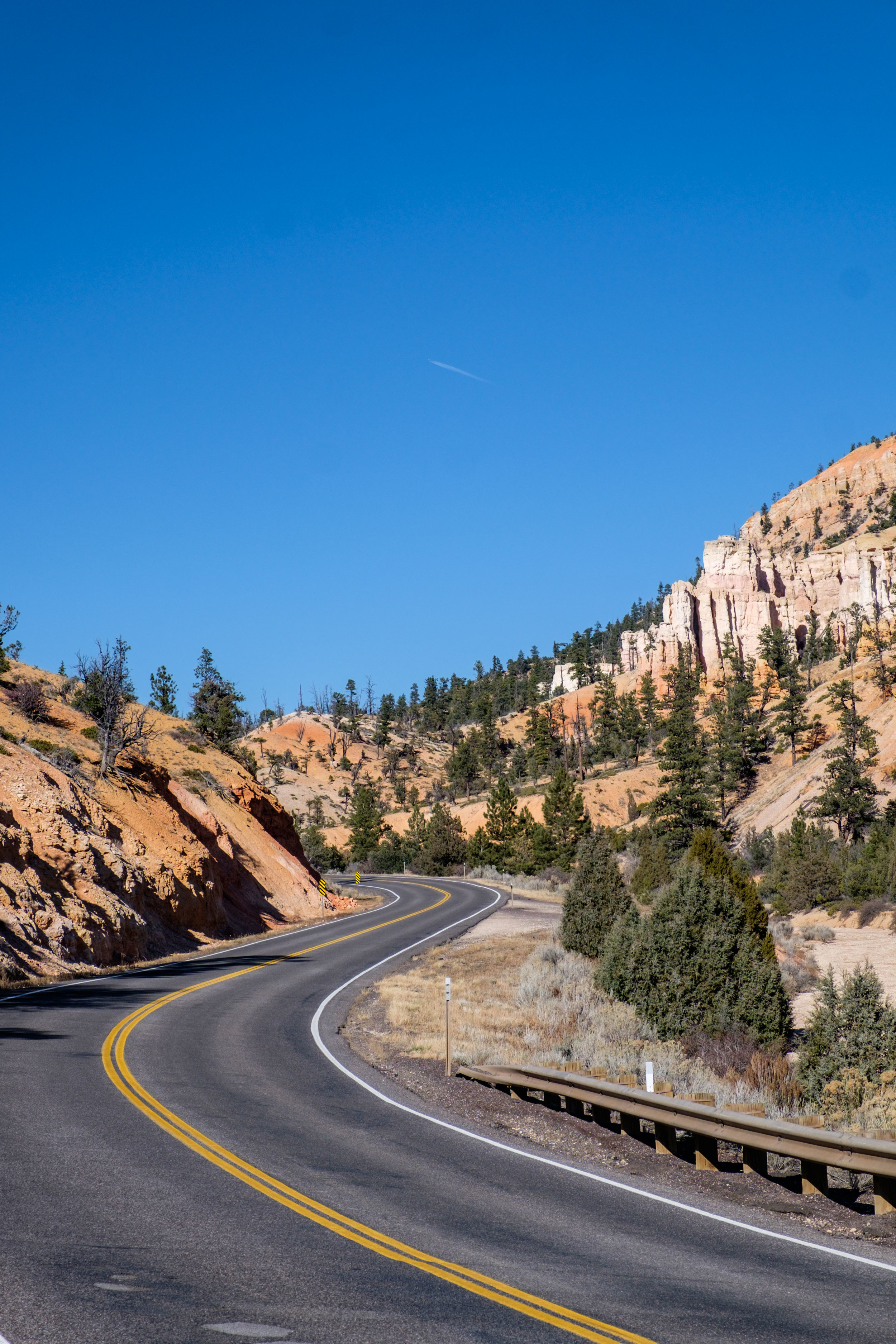 Driving into the park from the Dixie National Forest.