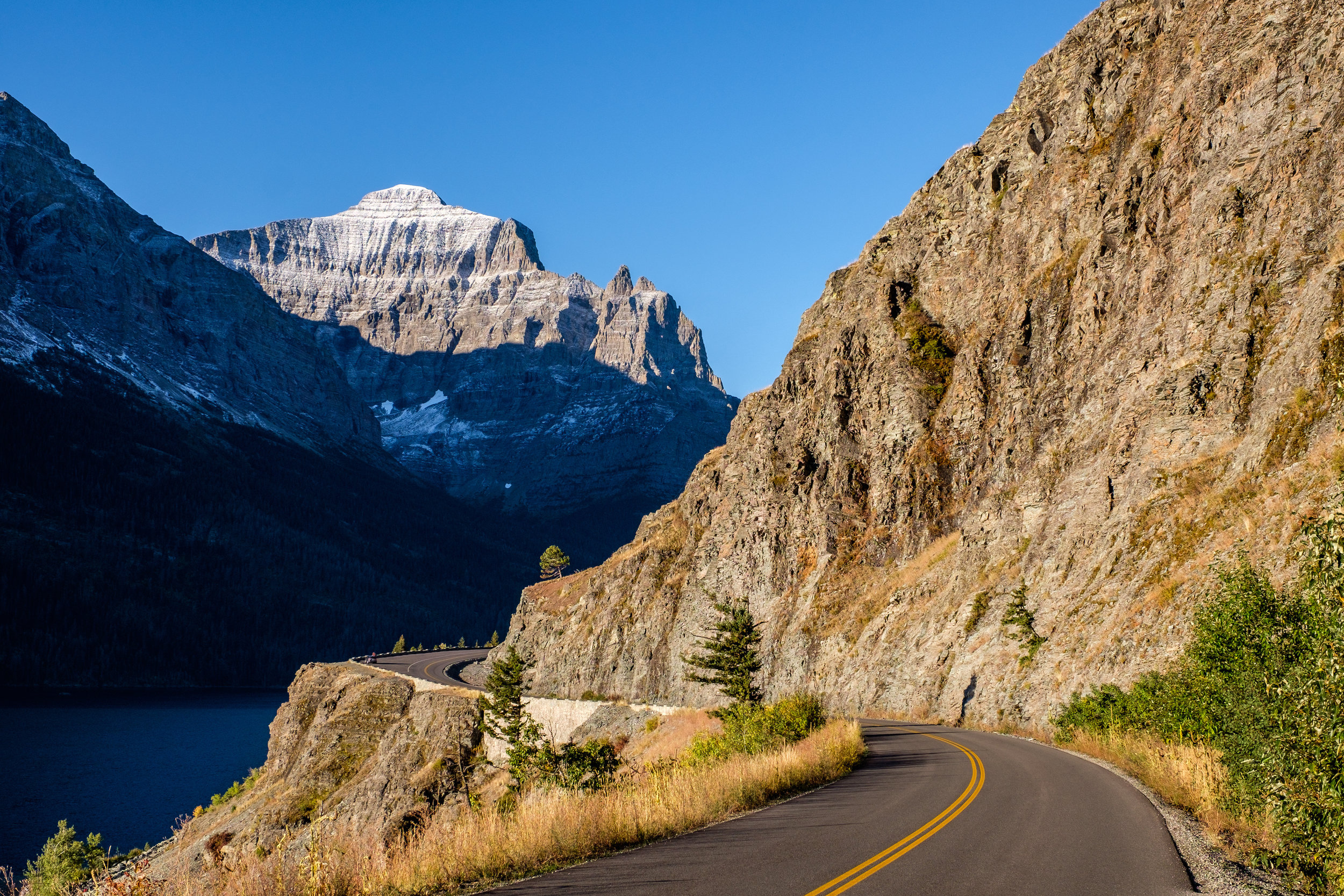 Going-to-the-Sun Road in Glacier National Park, Montana.