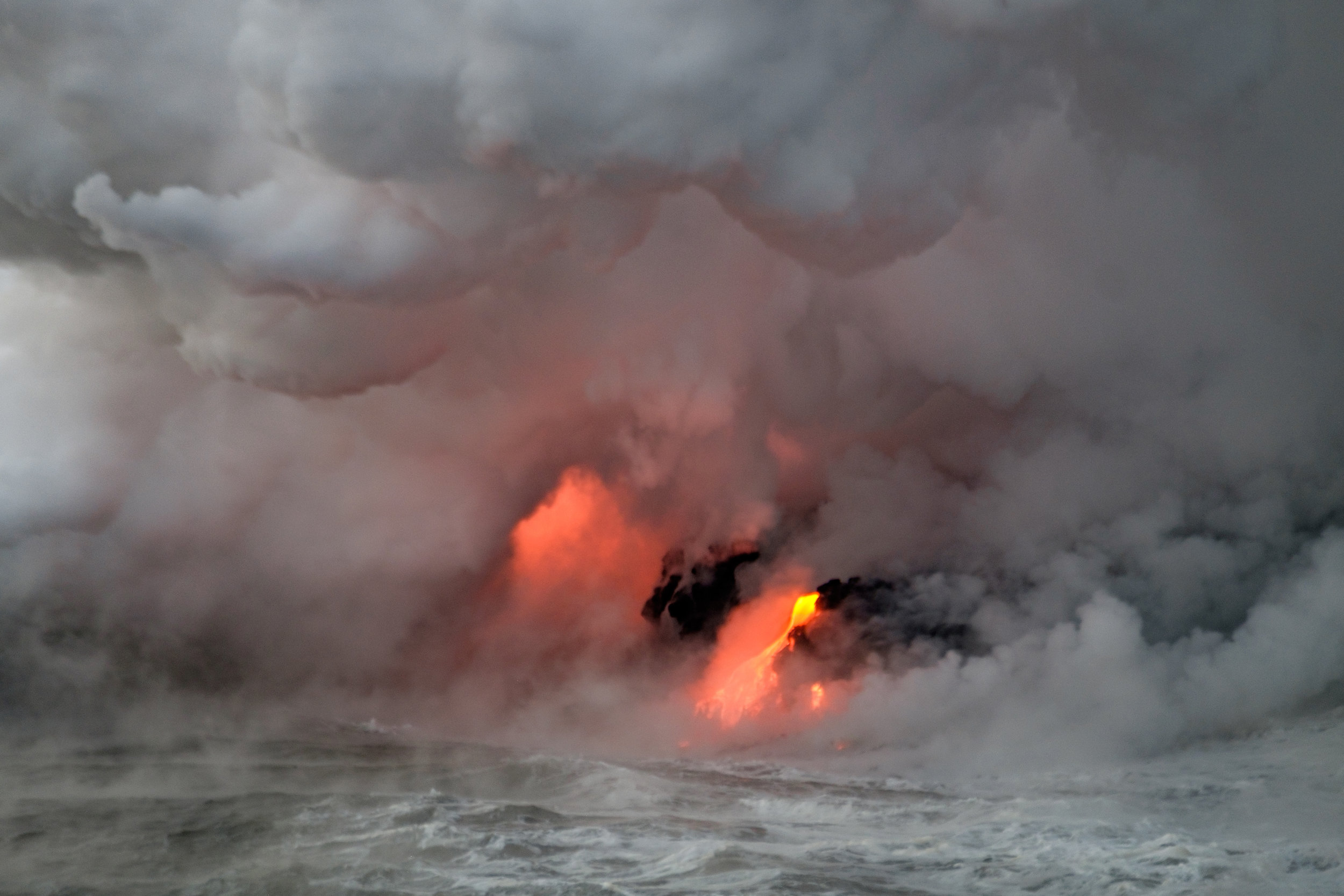 A meeting between Kīlauea and the Pacific Ocean.