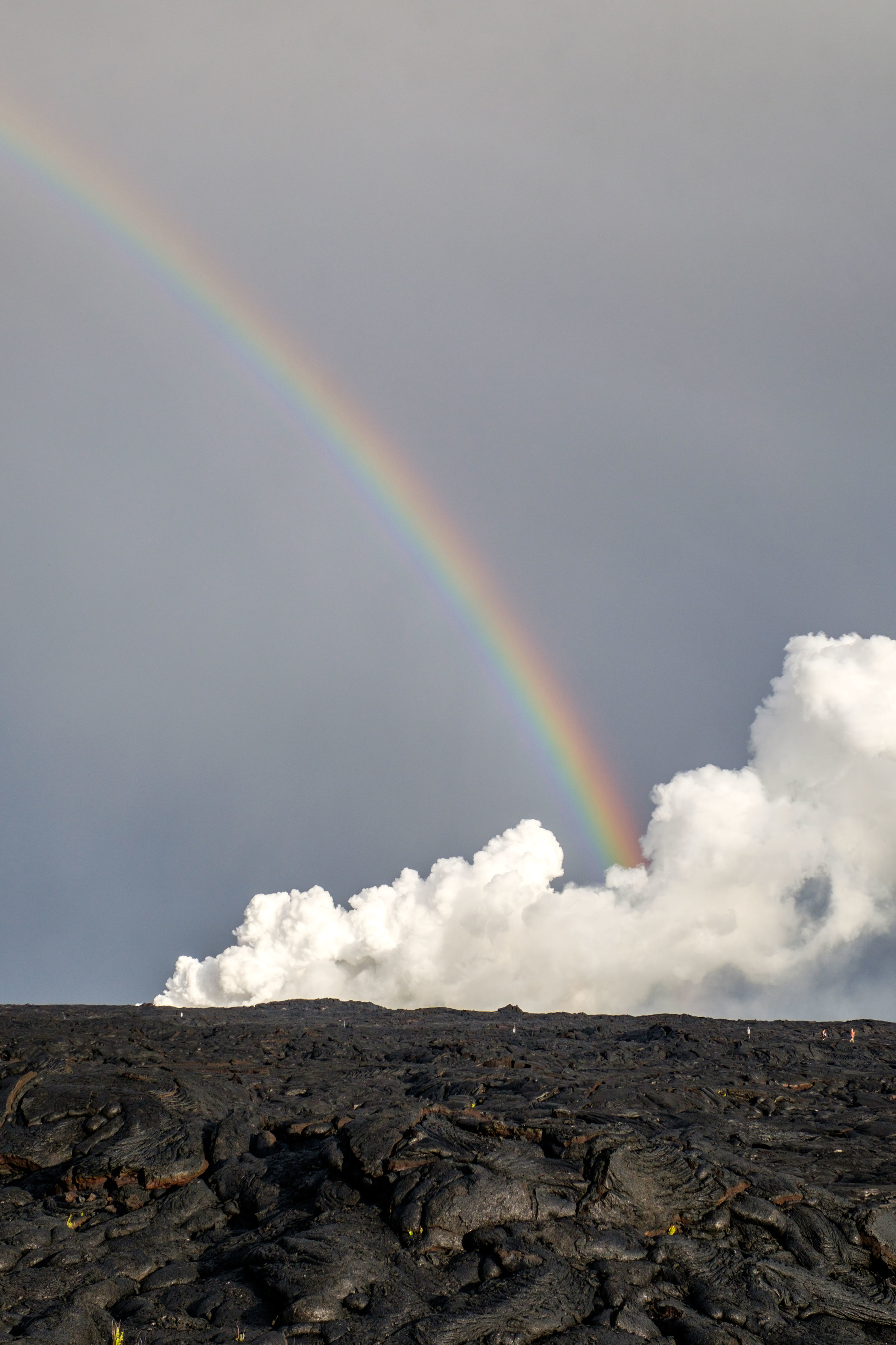 Rainbows and lava flows.