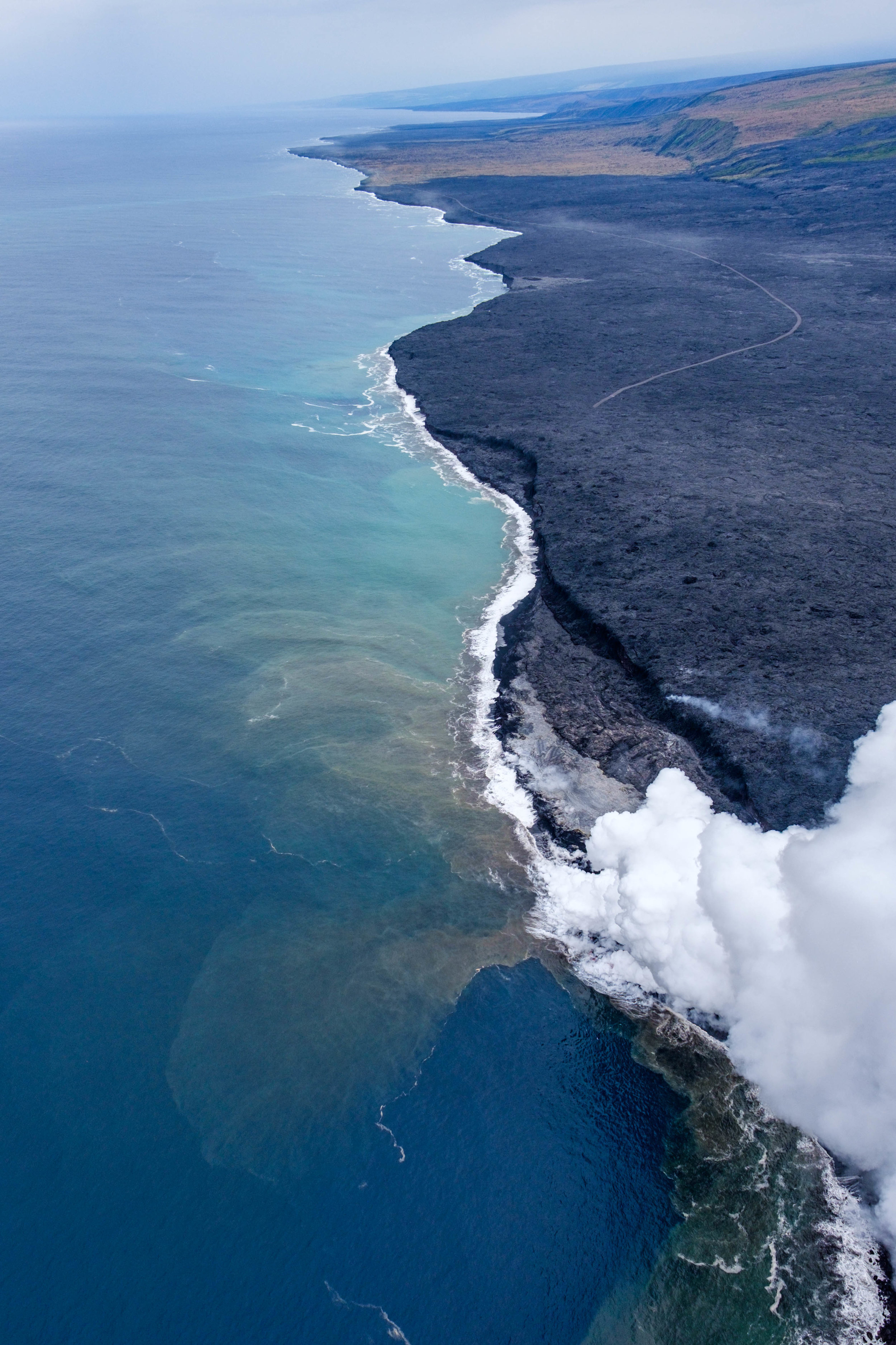 We do a few circles around the lava.