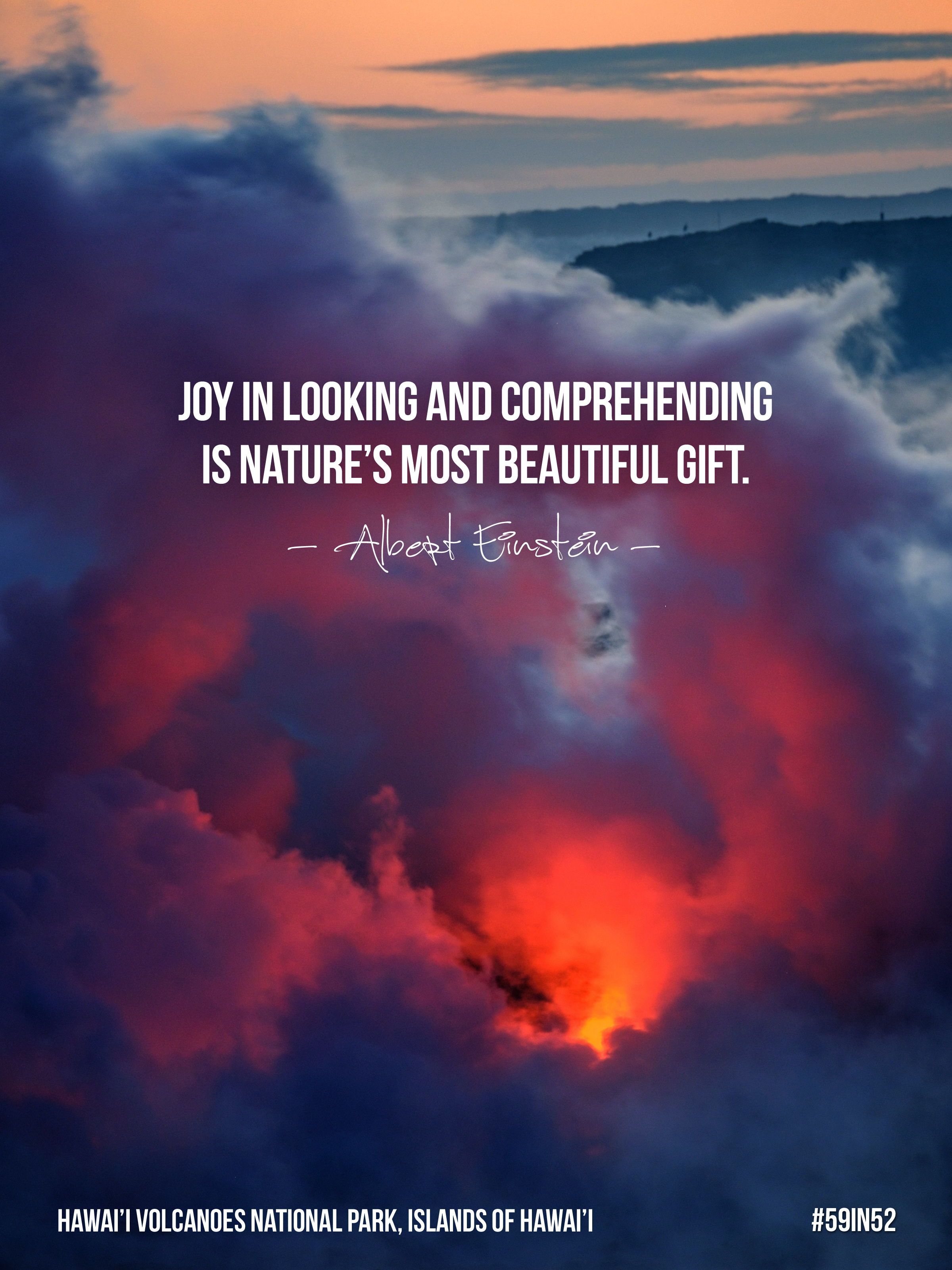 'Joy in looking and comprehending is nature's most beautiful gift.' -Albert Einstein