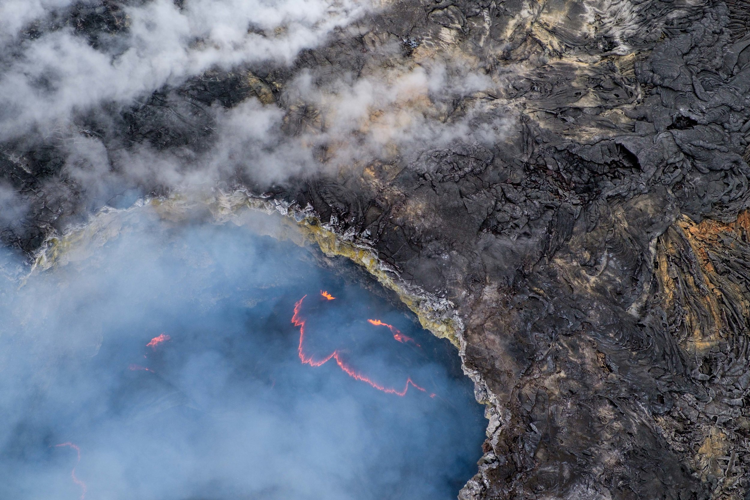 Hawai'i Volcanoes from an aerial vantagepoint.