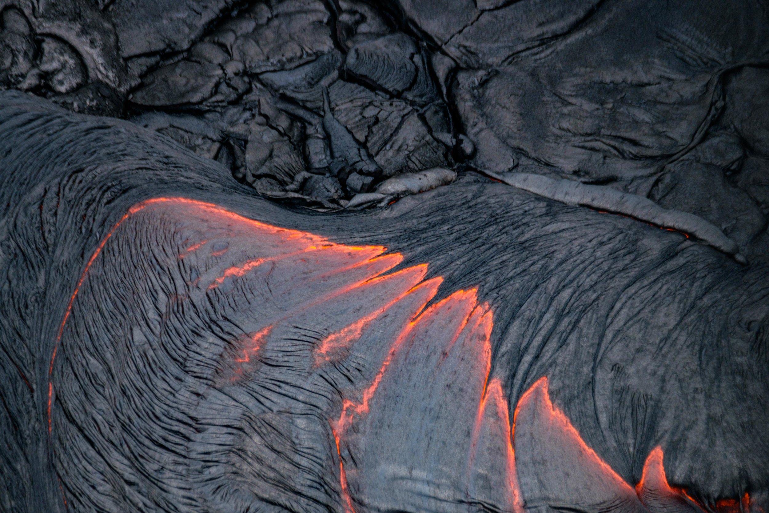 Detail of lava flow.