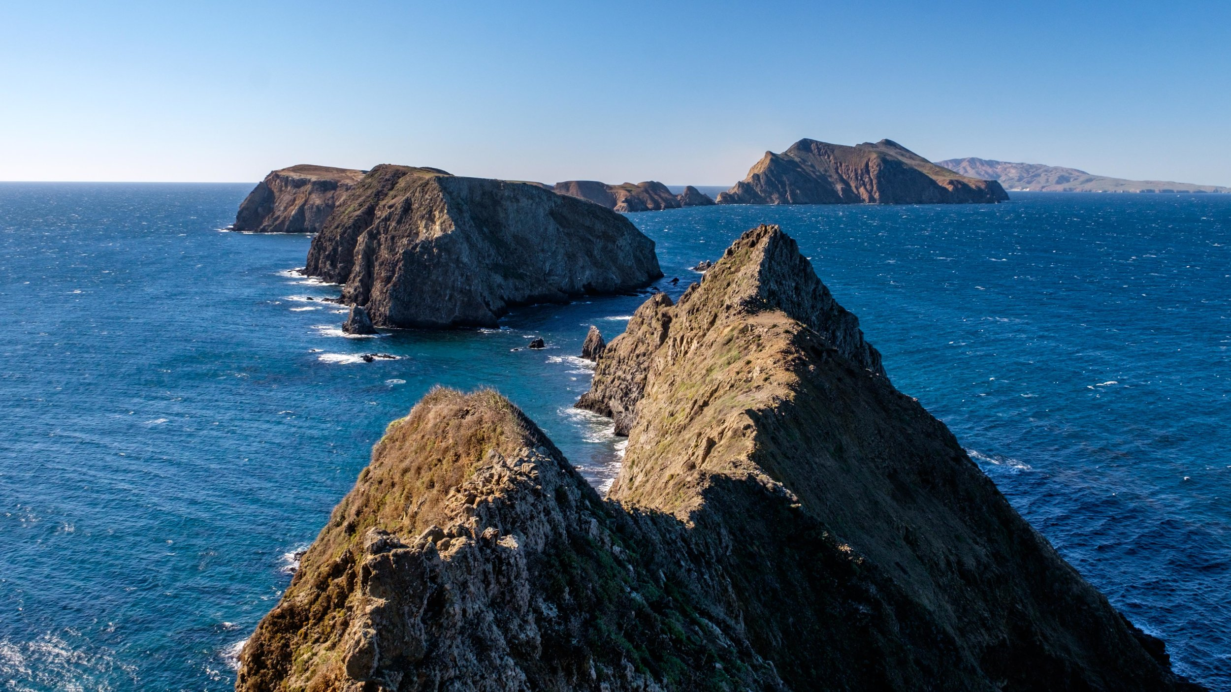 A view of the Channel Islands from Inspiration Point on Anacapa Island.