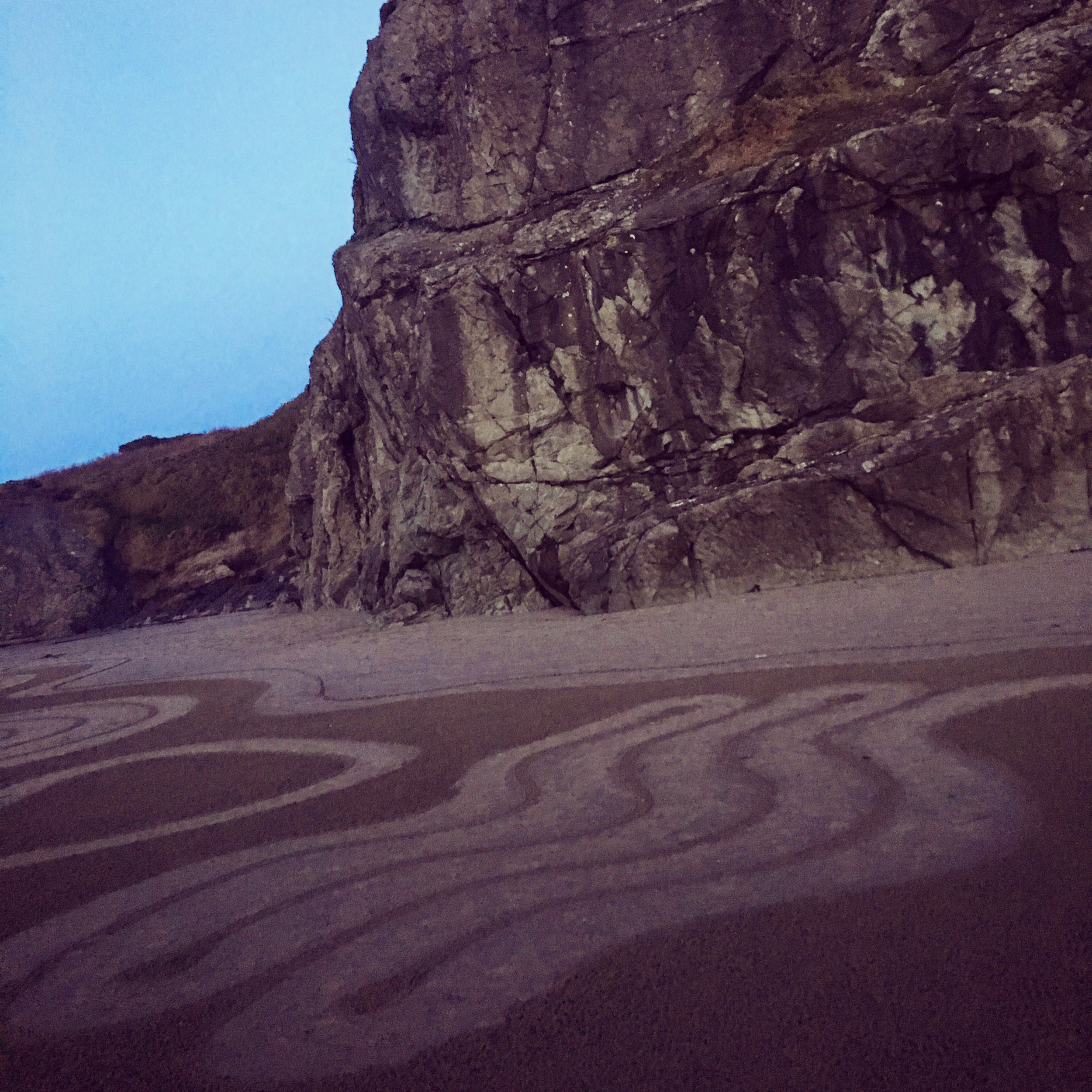 """Circles in the Sand""  at Bandon Beach in Oregon is a community effort 