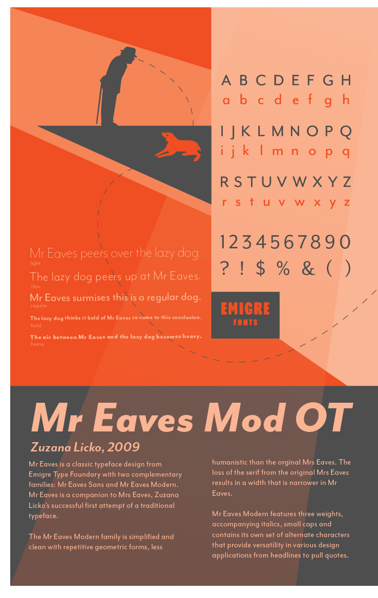 Mr Eaves Type Specimen
