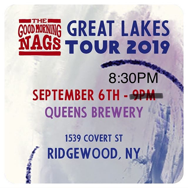 It's our homecoming show! Tonight at 8:30pm at @queensbrewery ! Great beer, fun games, and we hear there will be some classic German beer hall snacks! . . . . #goodmorningnags #nagfan #tour #tourlife #touringband #ontheroad #nyc #livemusic #nyclivemusic #queens #queensmusic #americanamusic #indiefolk #folkmusic #countrymusic #banjo #mandolin #guitar #fiddle