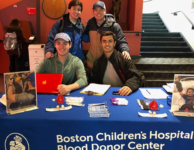 Michael Doulin, Lucas Walsh, Justin Streicher, and John D'Alotto are donating blood at the blood mobile on Centennial, why aren't YOU? The blood mobile will be there until 6 PM! Go out and support! It will truly make a difference.